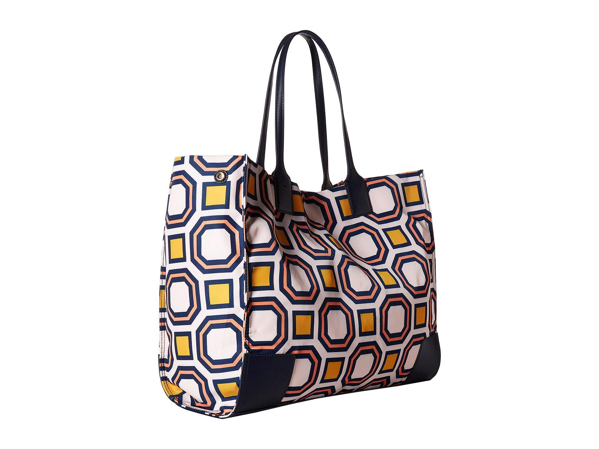 8538ad819cd Lyst - Tory Burch Ella Printed Tote (ballet Pink Octagon Square ...