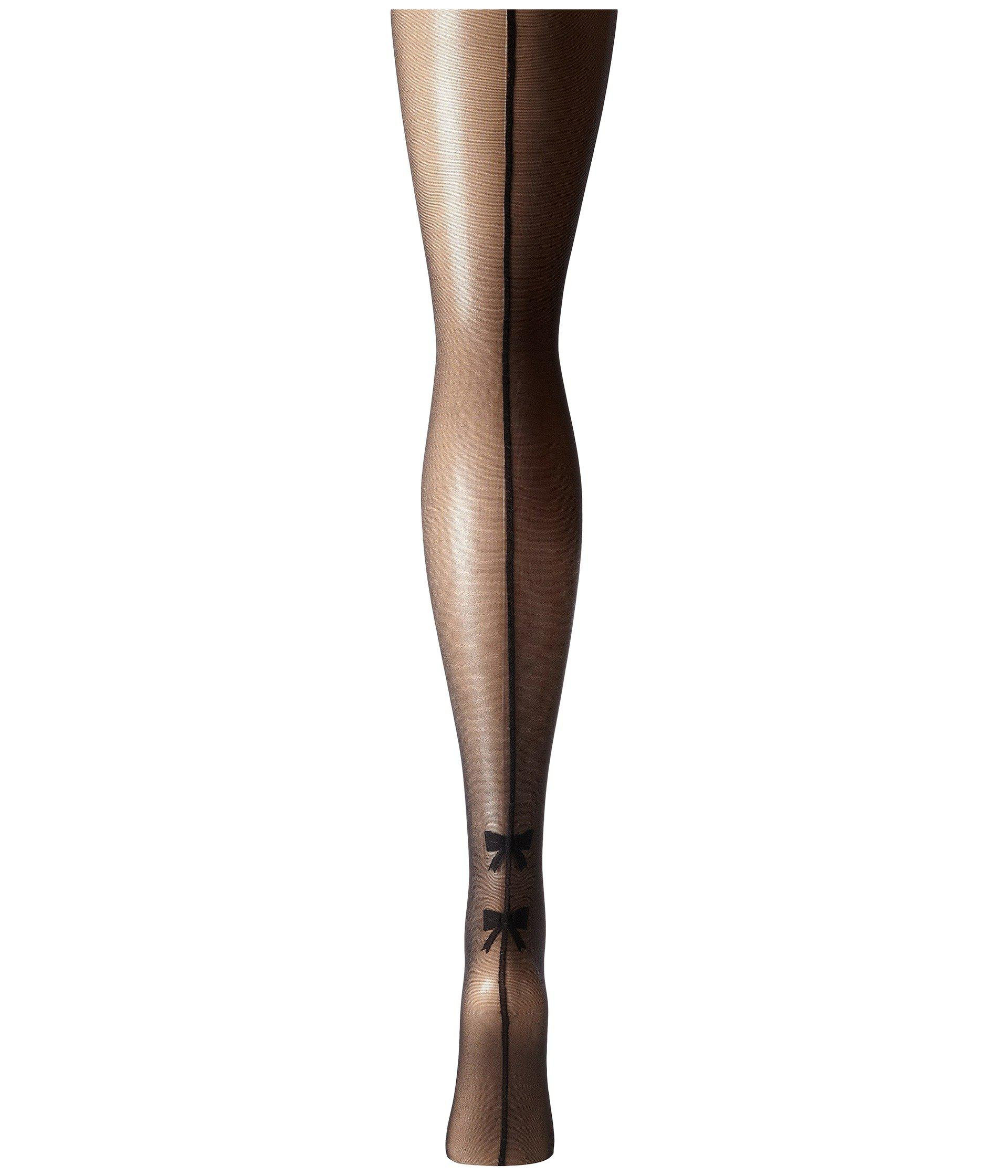 5f823f8417a58 Lyst - Pretty Polly Plus Size Curves Bow Backseam Tights (black ...