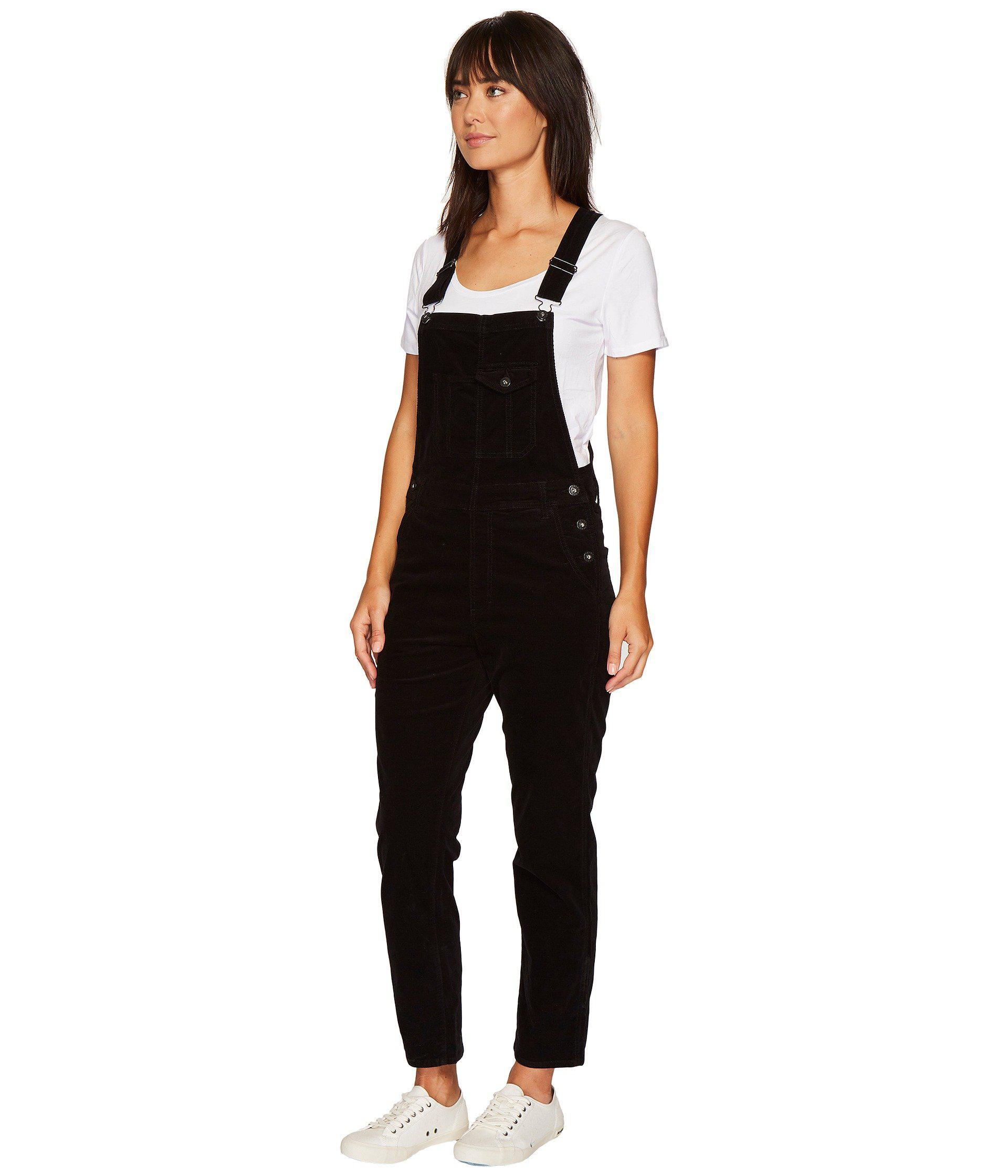 modern design buy good running shoes AG Jeans Velvet The Leah Overalls In Super Black (super ...