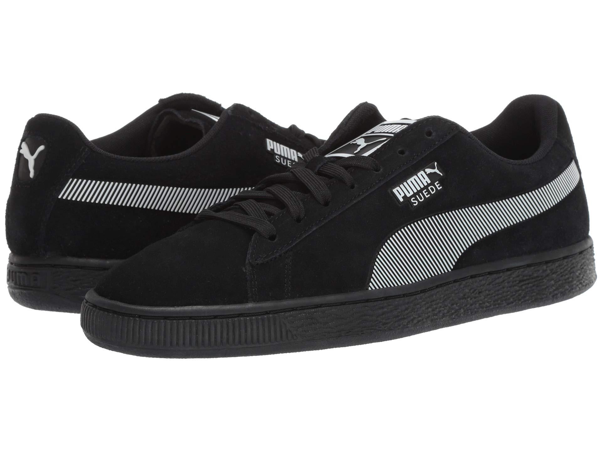 PUMA - Suede Classic Kurim ( Black  White) Men s Lace Up Casual Shoes for.  View fullscreen 1c161ab7d