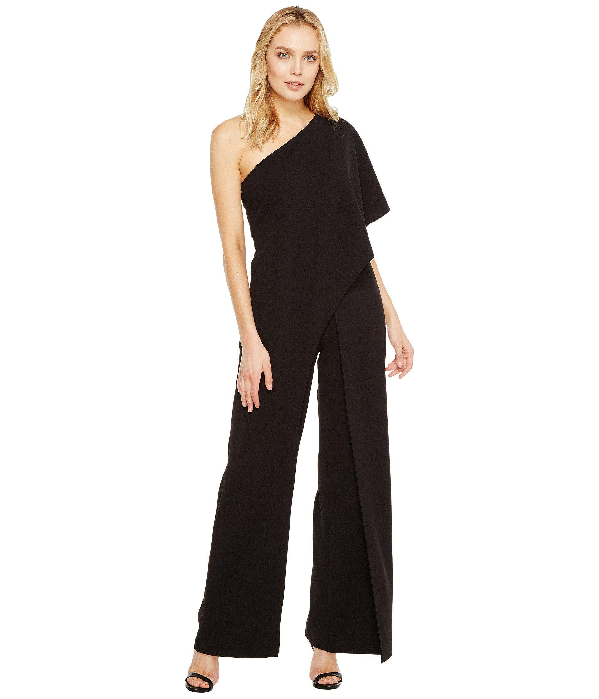 6618f5bc930 Adrianna Papell One Shoulder Jumpsuit (black) Women s Jumpsuit ...