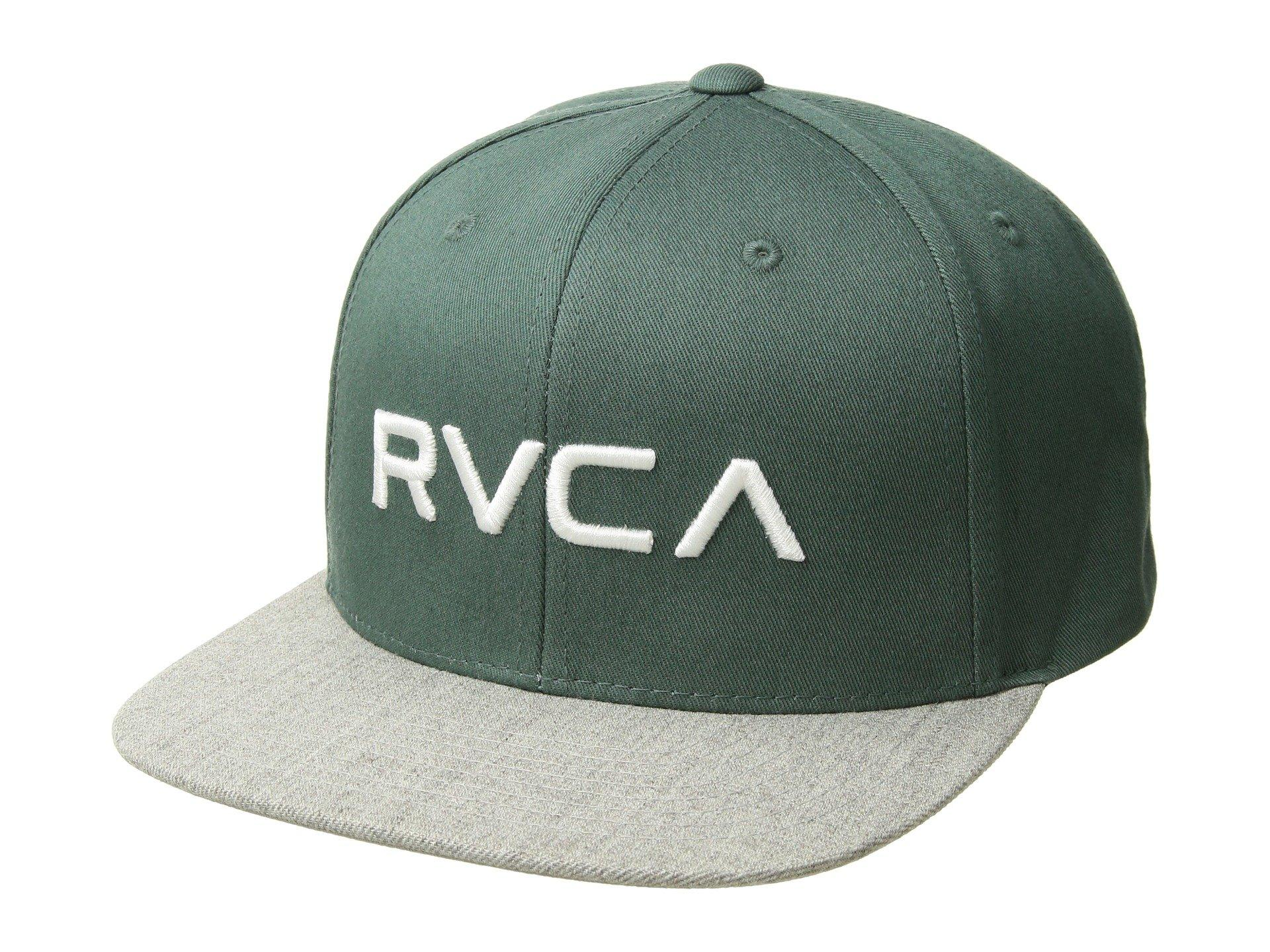 newest c0ca7 987d2 RVCA - Green Twill Snapback (navy red) Baseball Caps for Men - Lyst. View  fullscreen