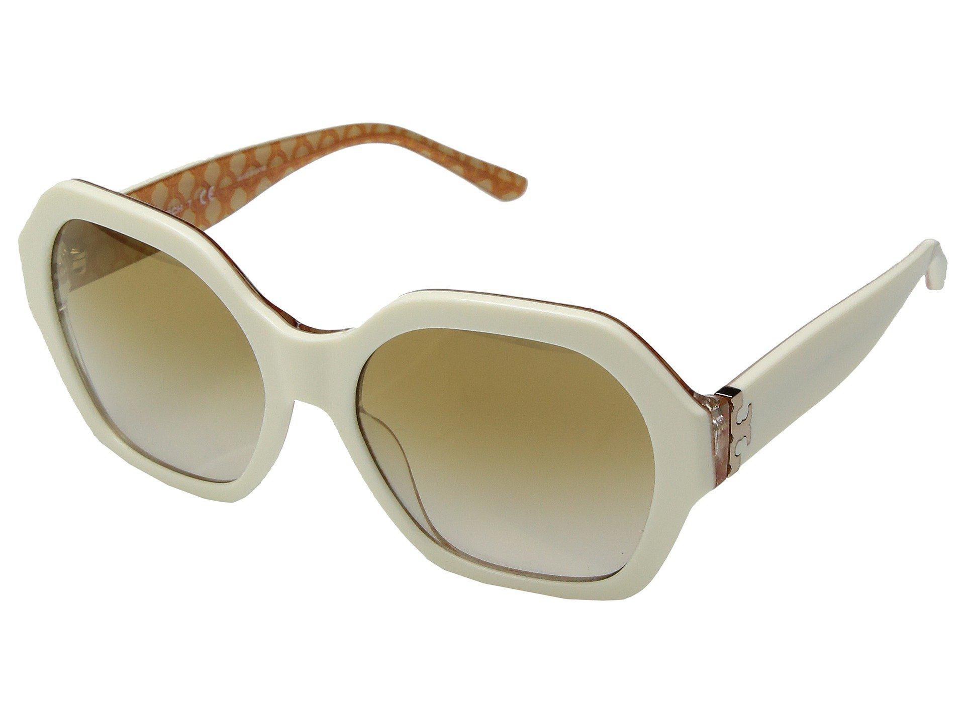 4e65f3908ddc0 Lyst - Tory Burch 0ty7120 57mm (ivory gold Gradient Mirror) Fashion ...