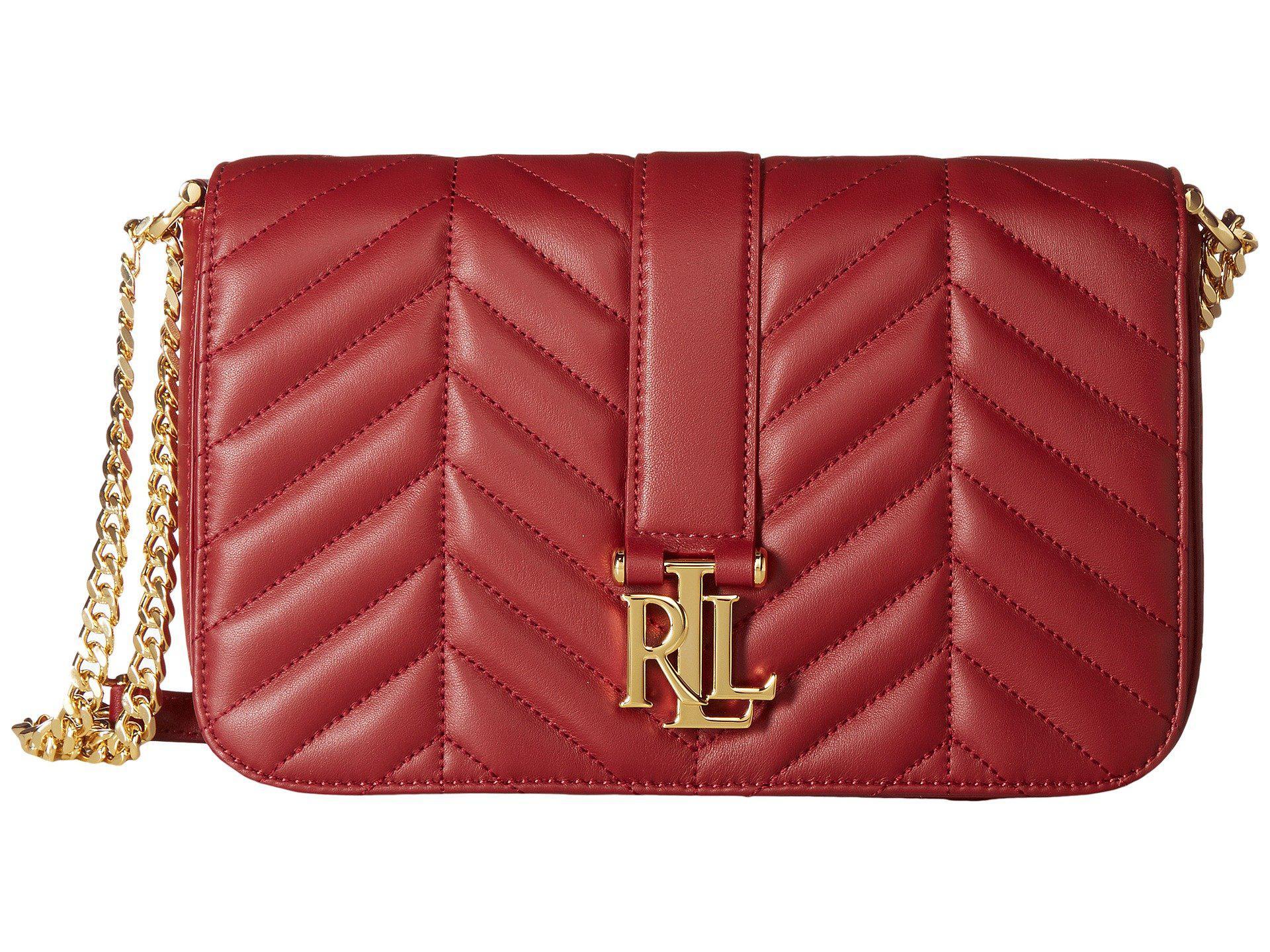 929e5d3d270 Lyst - Lauren by Ralph Lauren Carrington Brenda Medium Shoulder in Red
