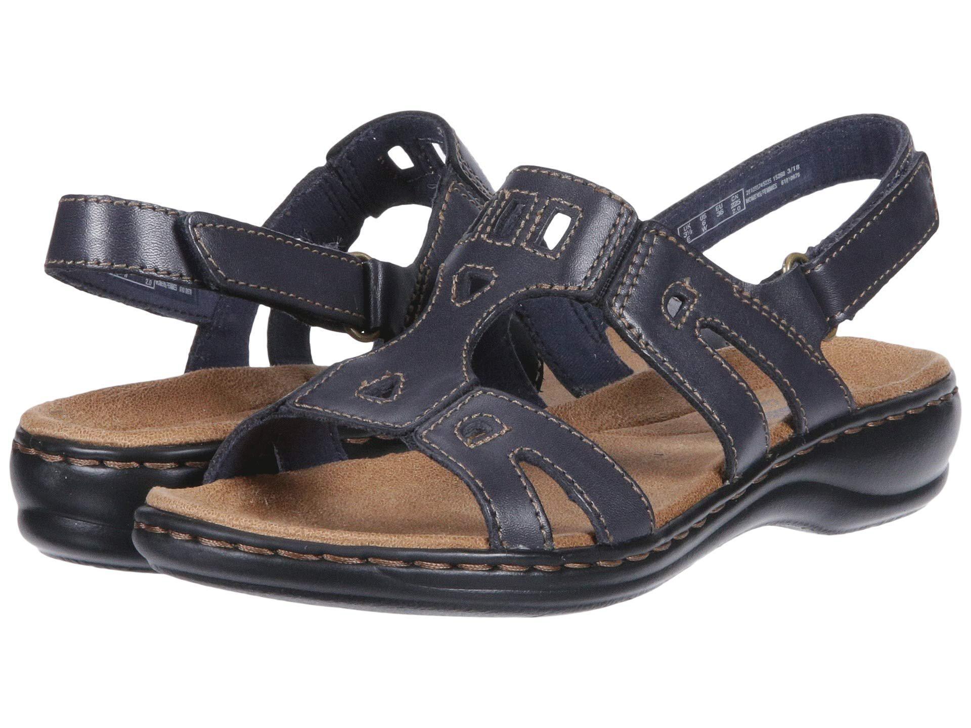 e8b6527d771e Lyst - Clarks Leisa Annual (dark Tan Leather) Women s Sandals in ...