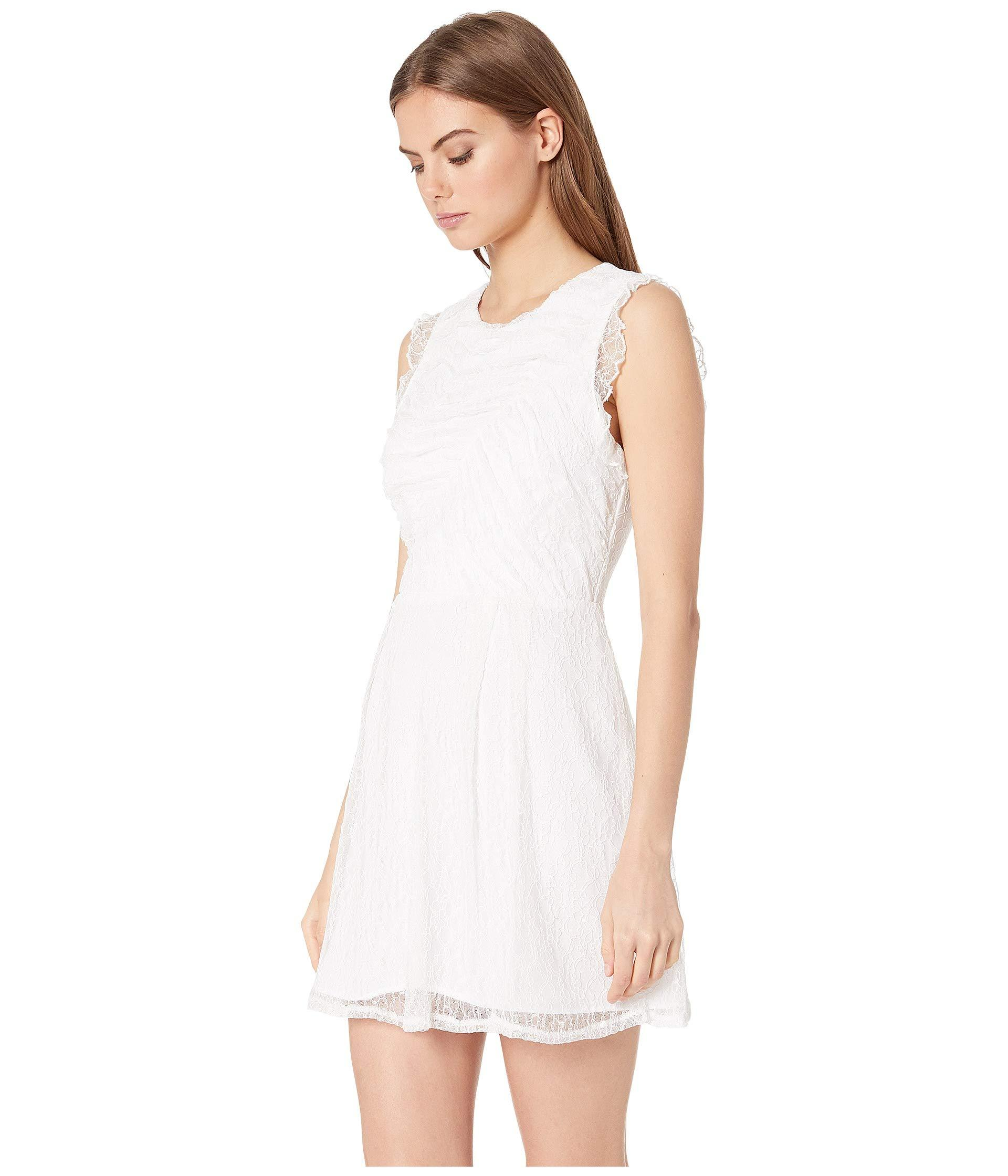 043fa825288a8 Lyst - BCBGeneration Shirred Lace Dress - Cxa6190029 (optic White) Women's  Dress in White