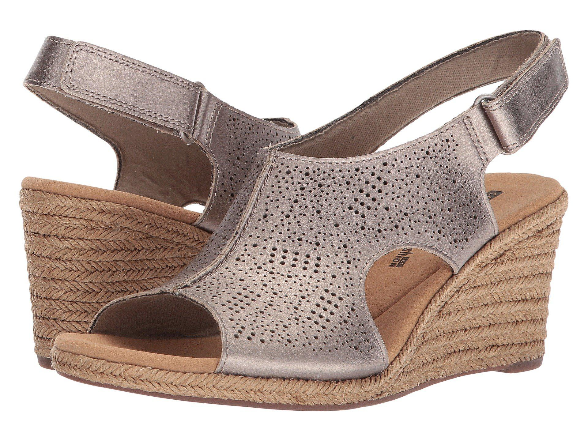 7db7a5b45df0 Lyst - Clarks Lafley Rosen (sand Leather) Women s Wedge Shoes