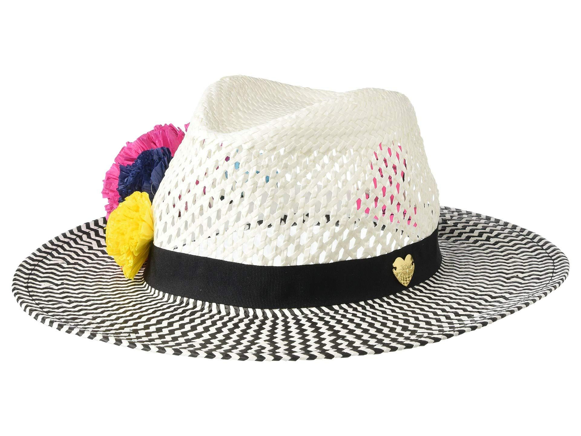 ef3113e9a87d7d Lyst - Betsey Johnson Pom Pom Panama Hat (white) Caps in White