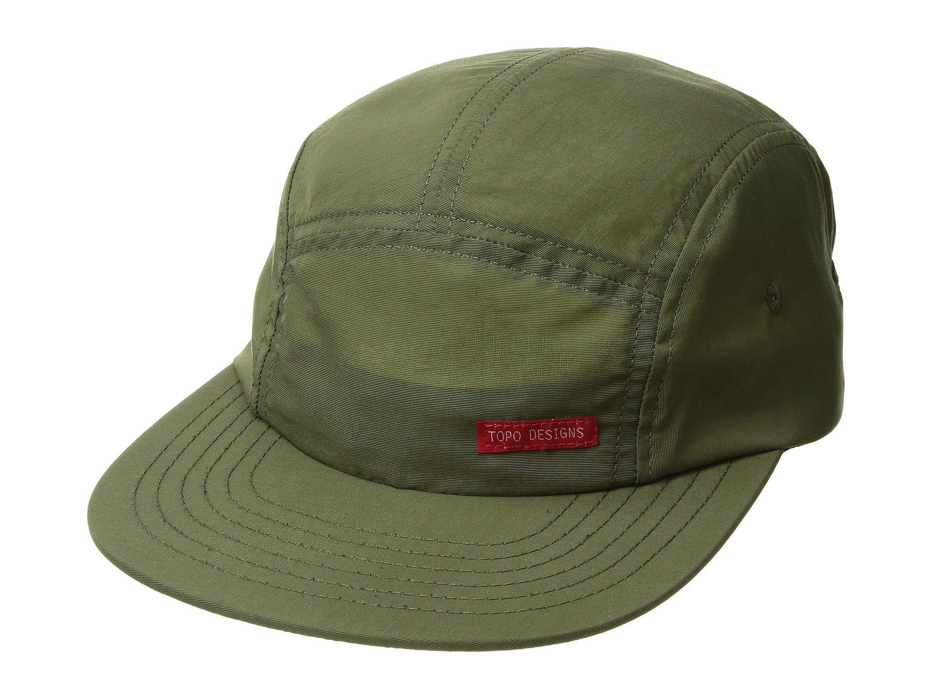 a49acd2518d7 Lyst - Topo Designs Nylon Camp Hat (olive) Caps in Green for Men