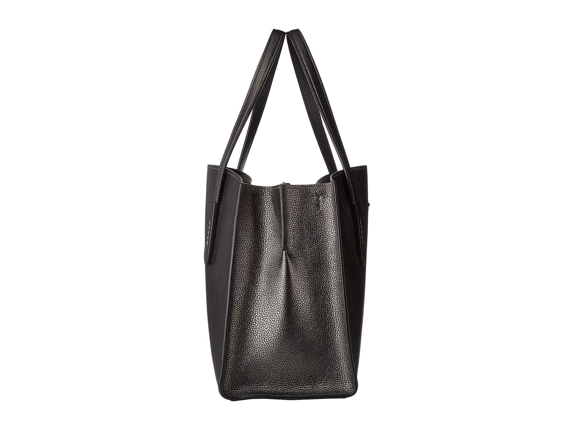 498a5f79cc Lyst - COACH Metallic Leather Charlie Carryall (gunmetal metallic ...