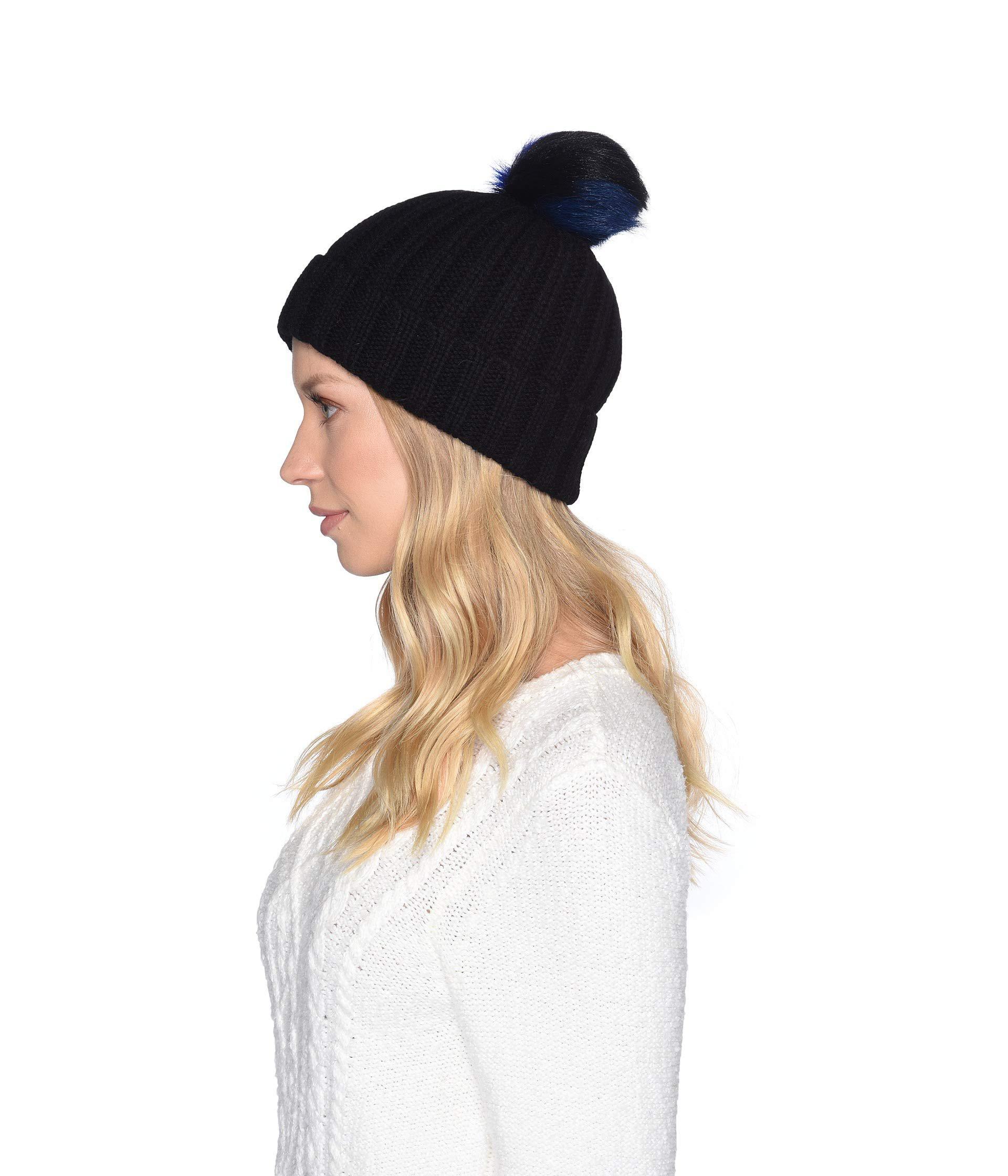 069e6af8450 Lyst - UGG Multicolored Sheepskin Pom Knit Hat (black Multi) Caps in Black