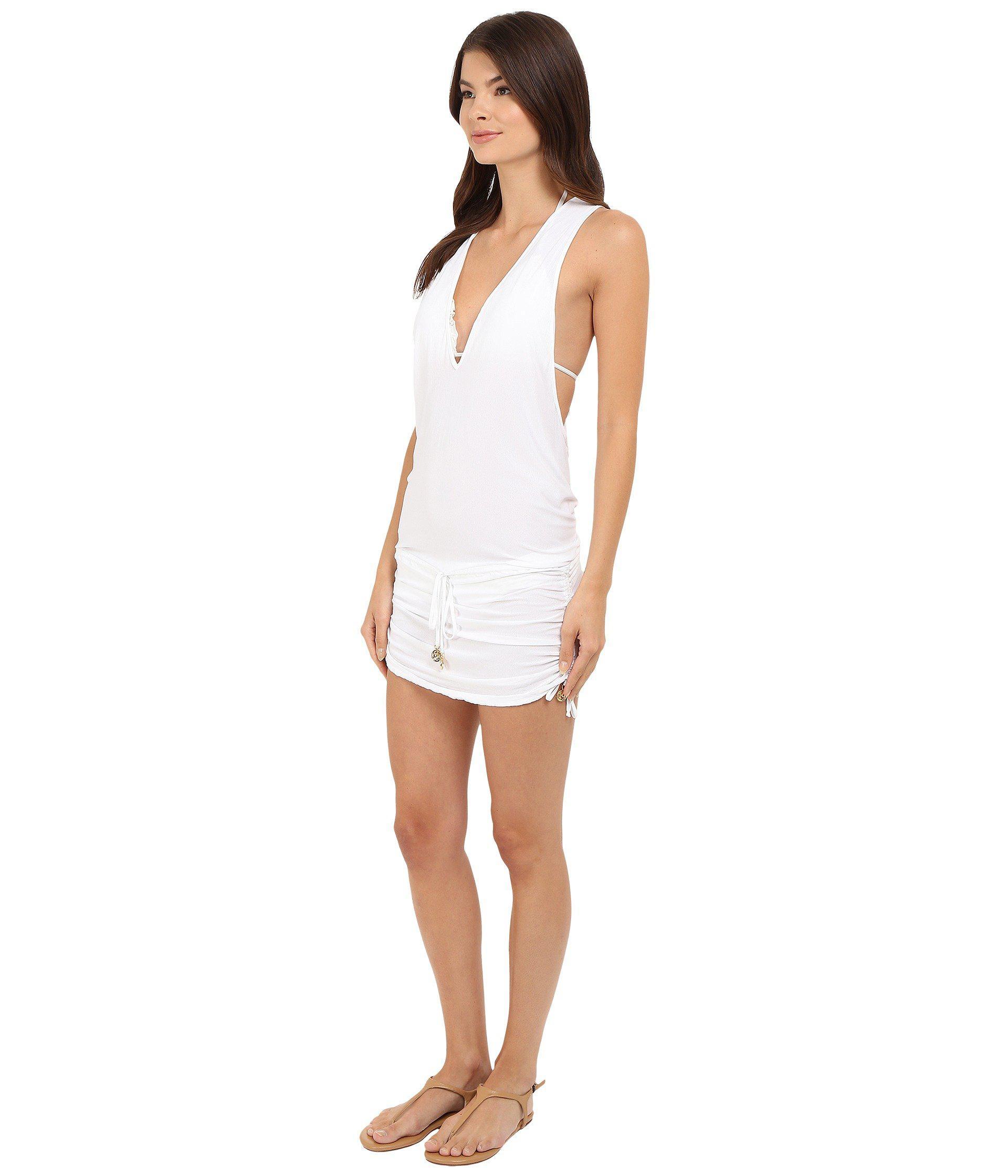 c3ea3fde26588 Lyst - Luli Fama Cosita Buena T-back Mini Dress Cover-up (black) Women's  Swimwear in White
