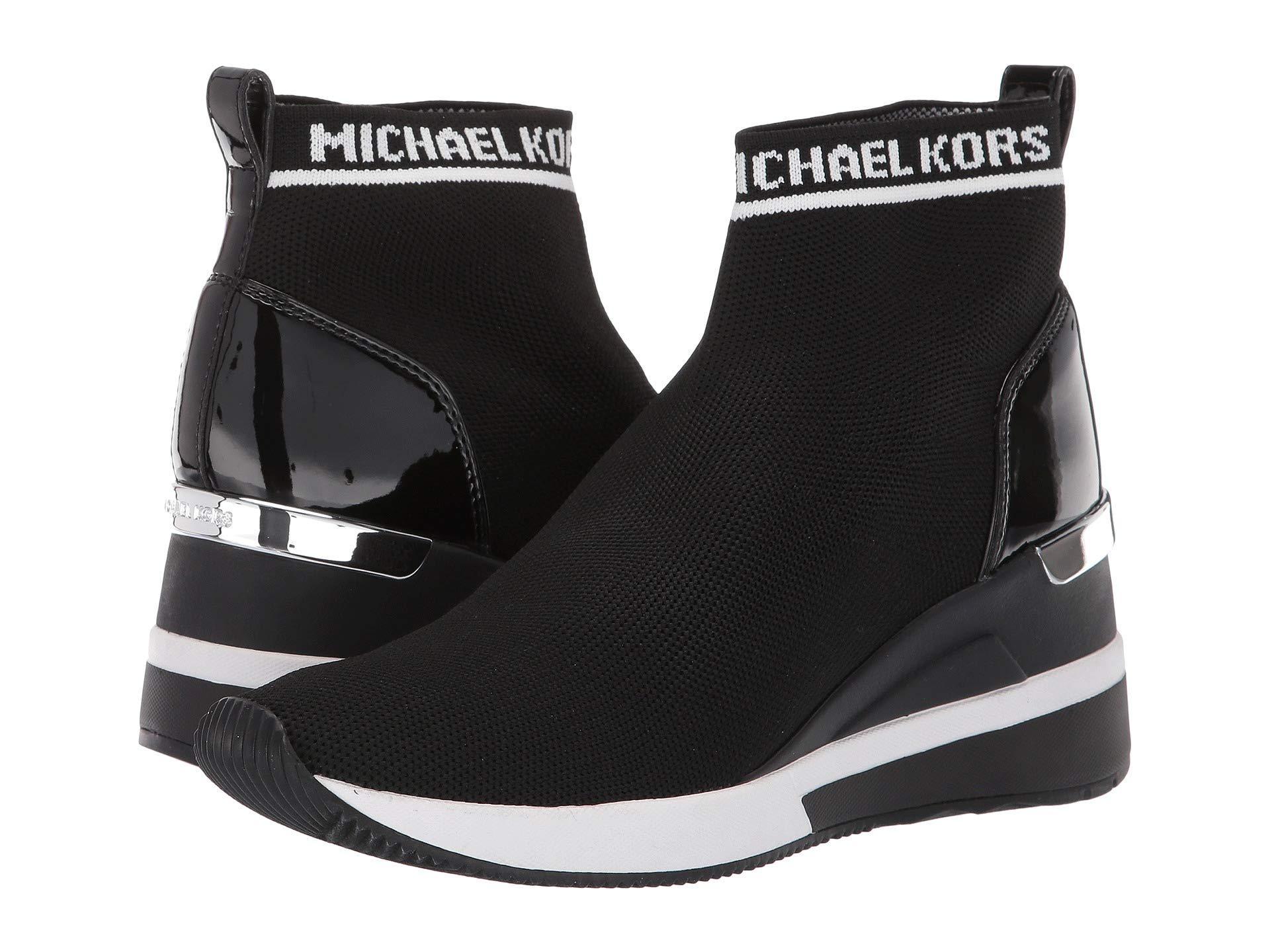 33b27940174 Lyst - MICHAEL Michael Kors Skyler Bootie (black Soft Knit/patent ...