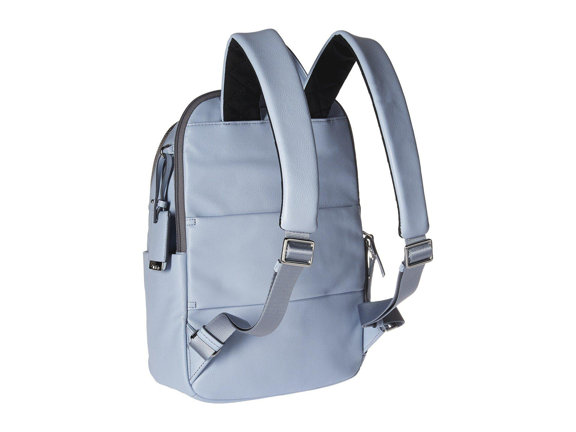 Lyst - Tumi Voyageur Leather Daniella Small Backpack (light Blue ... 6cf3e61a39