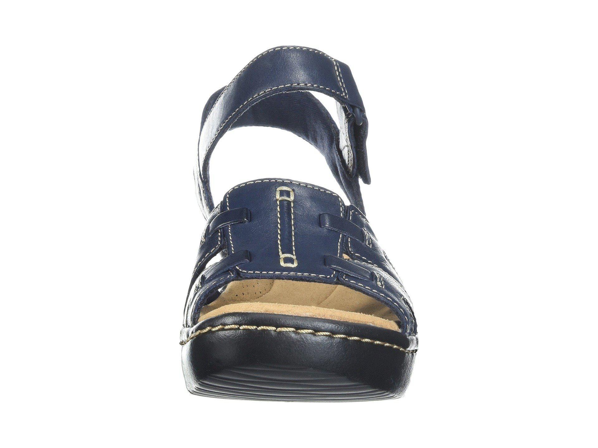f6903e871d01 Lyst - Clarks Delana Nila (black Leather) Women s Sandals in Blue