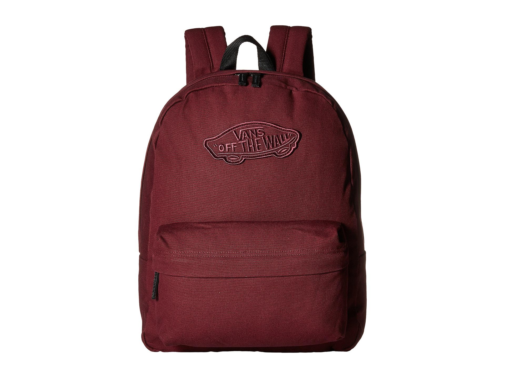 Lyst - Vans Realm Backpack in Red for Men 6ba46d709fa