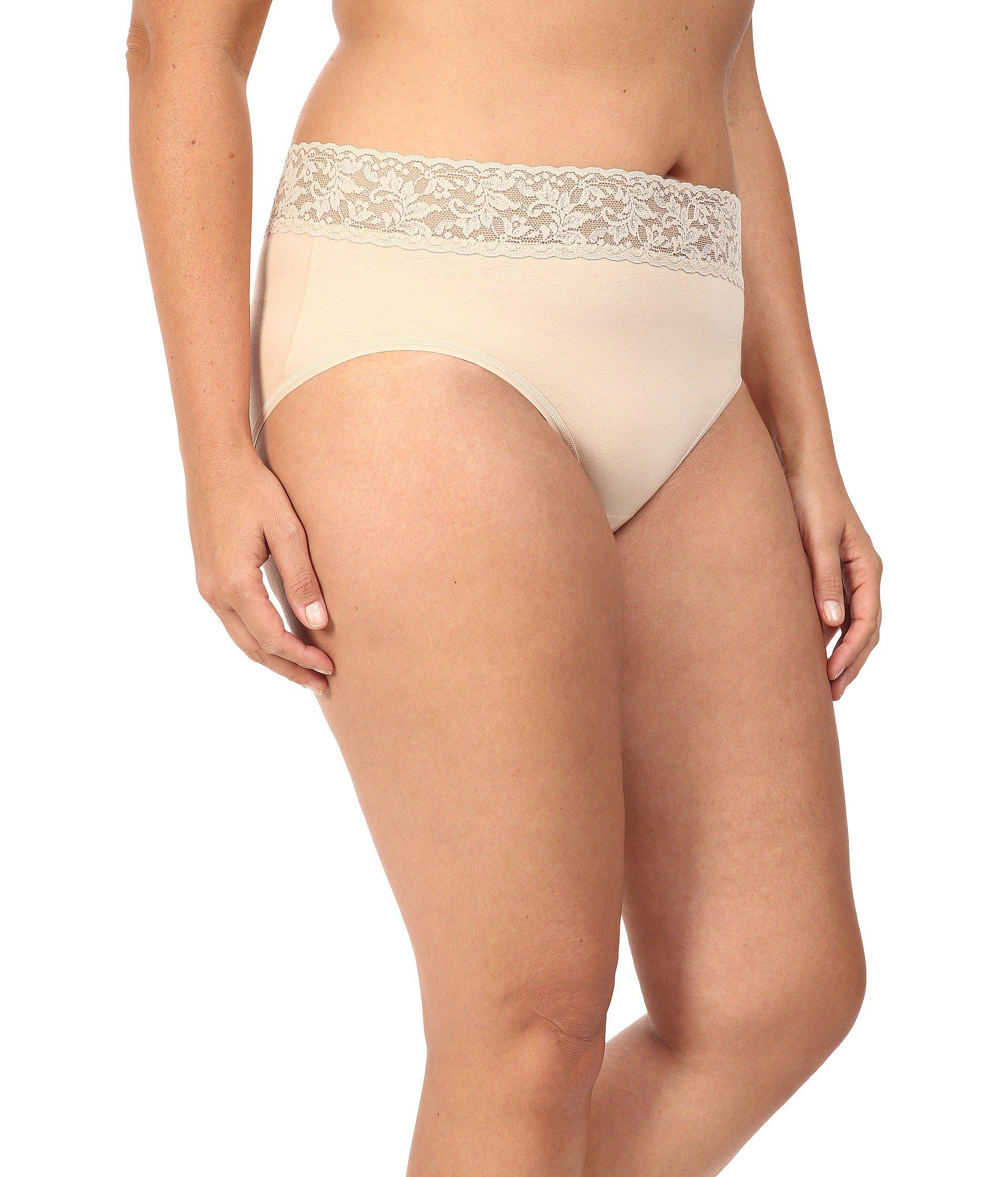 2148e1acd02 Hanky Panky - Natural Plus Size Organic Cotton Signature Lace French Brief  (chai) Women s. View fullscreen
