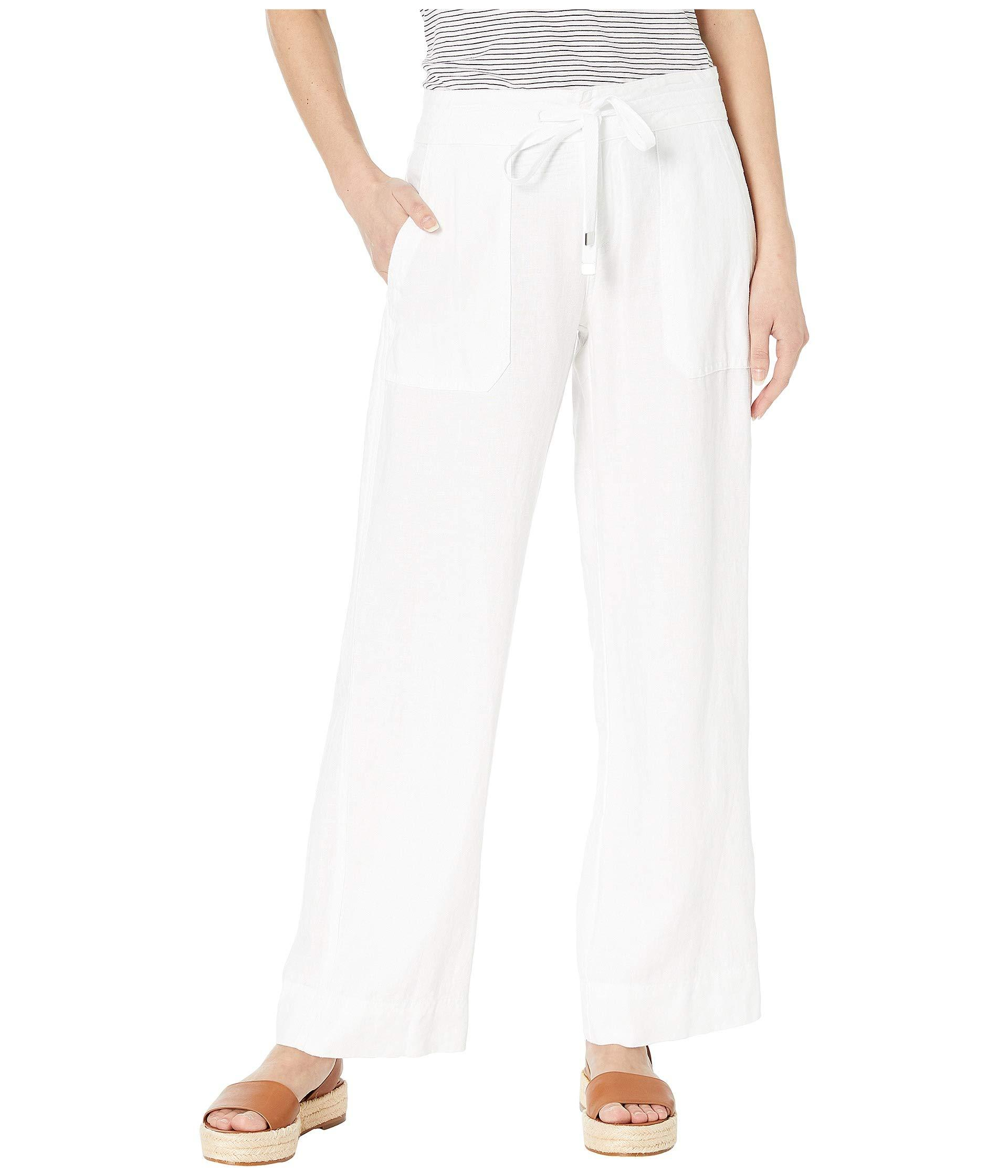 cfa3ebdd7 Lauren by Ralph Lauren. Petite Linen Wide-leg Pants (white) Women's ...