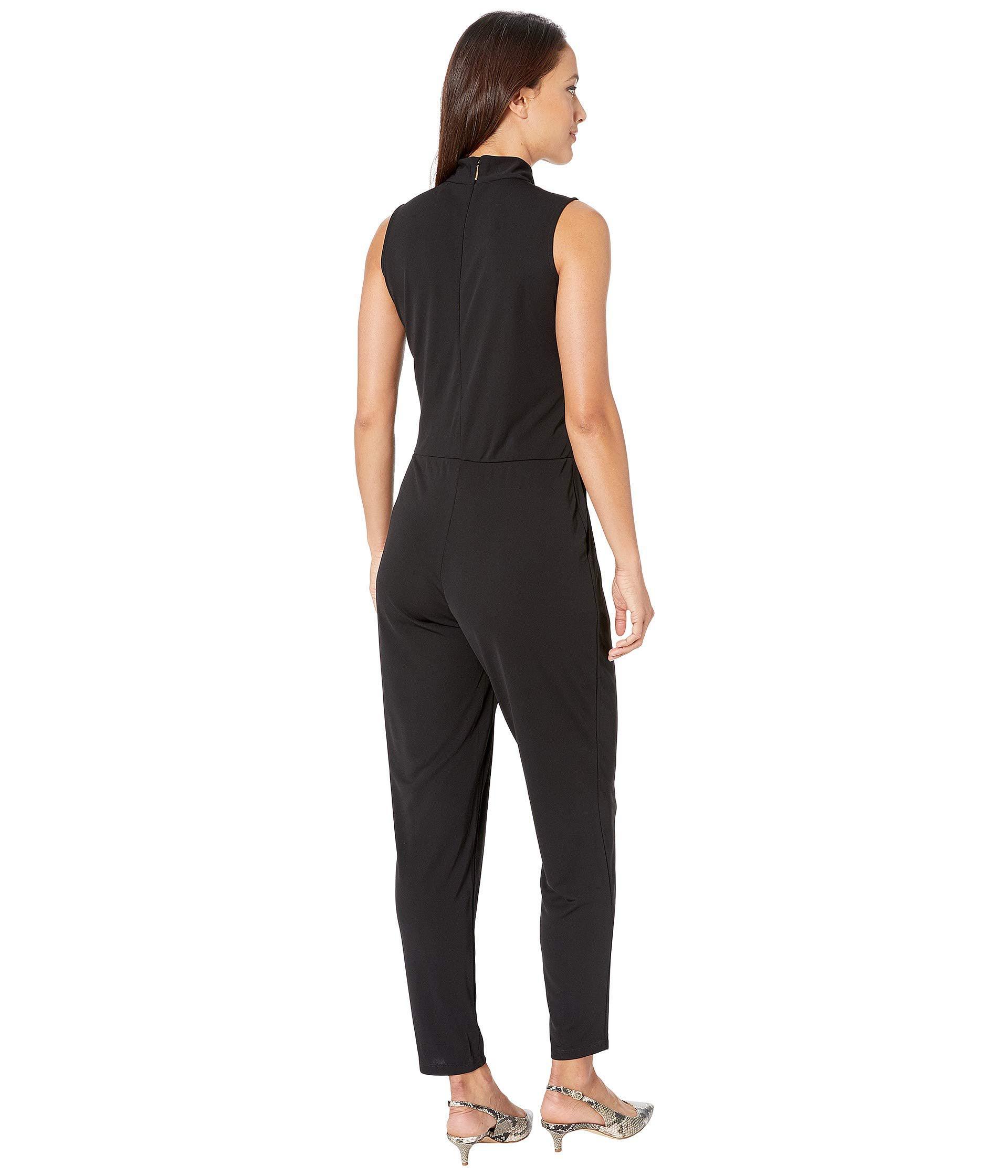 f0c8866caa7 Lauren by Ralph Lauren - Petite Tie Neck Jersey Jumpsuit (polo Black)  Women s Jumpsuit. View fullscreen