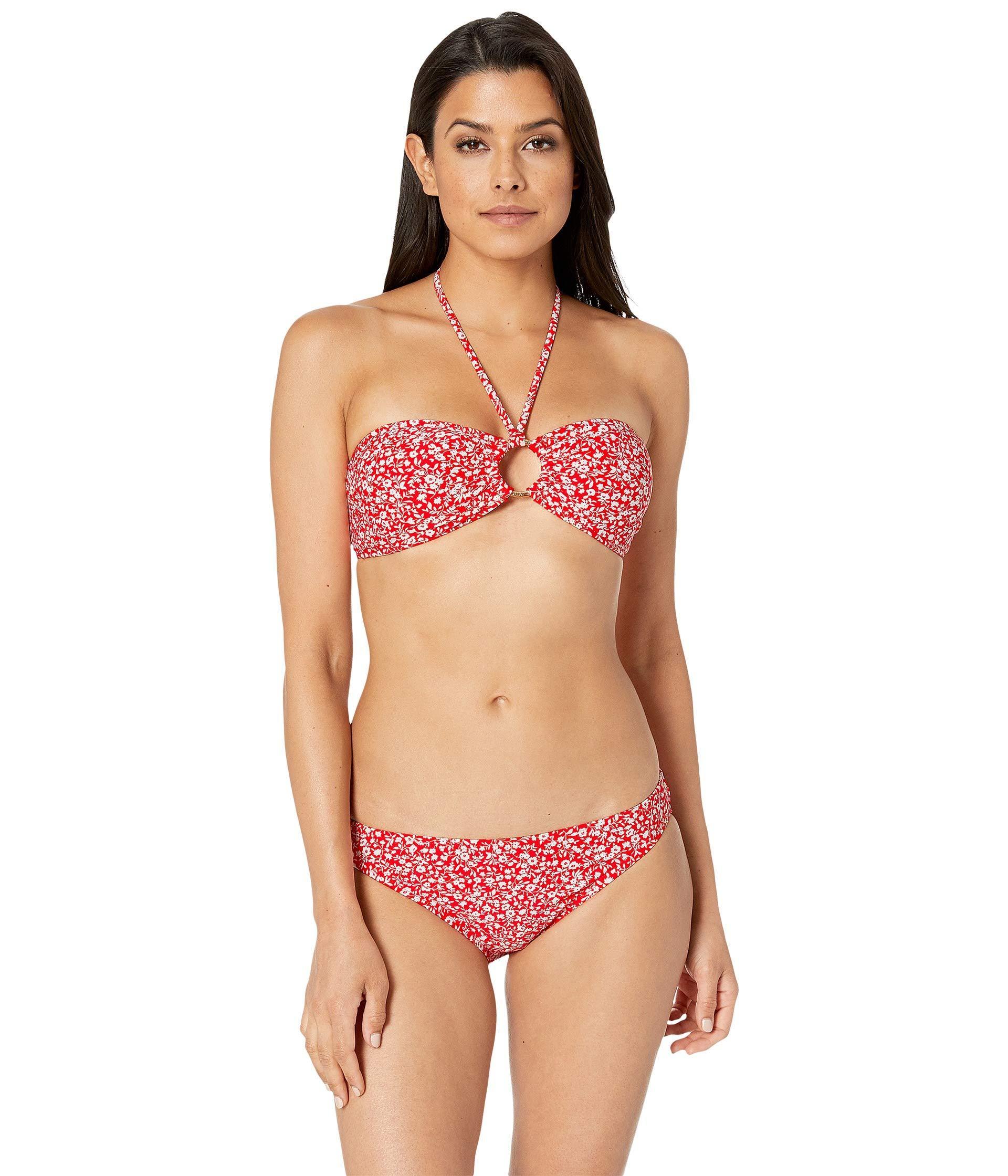 9a9de24f54f MICHAEL Michael Kors Shadow Floral Logo Bar Bandeau Bikini Top ...