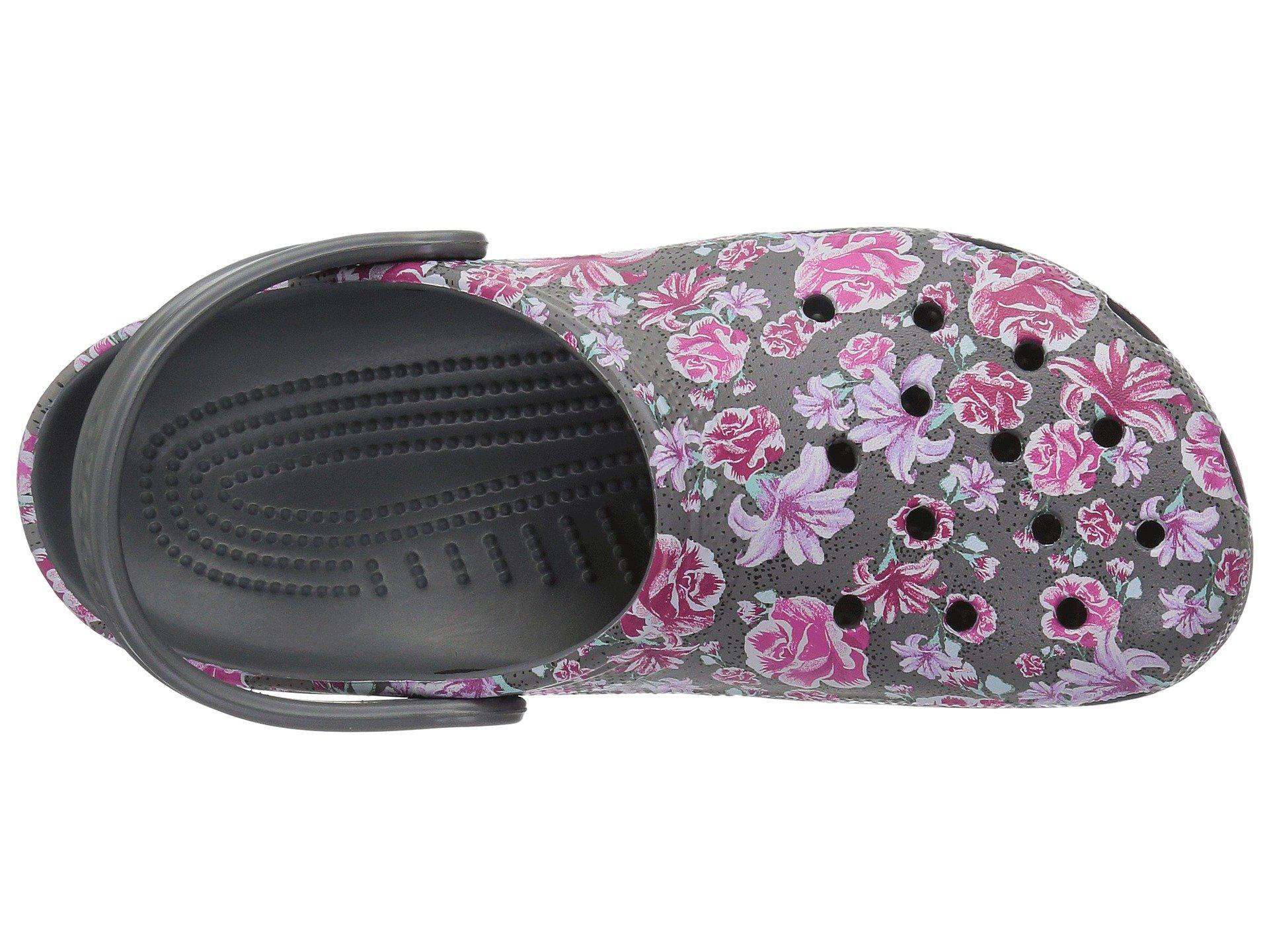 32684f71474ae Lyst - Crocs™ Classic Graphic Ii Clog (multi Floral slate Grey) Clog ...