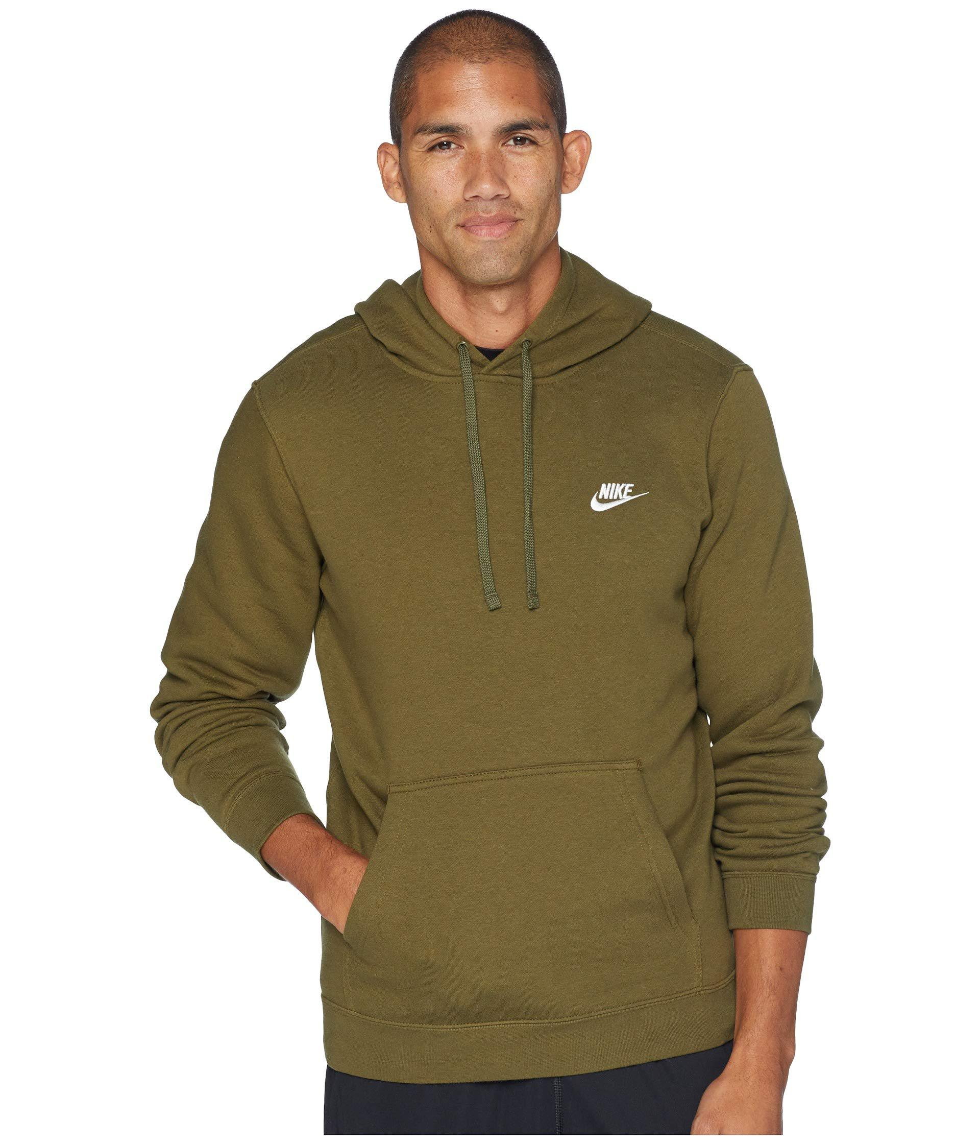 b7f514d5199 Nike - Green Club Fleece Pullover Hoodie for Men - Lyst. View fullscreen
