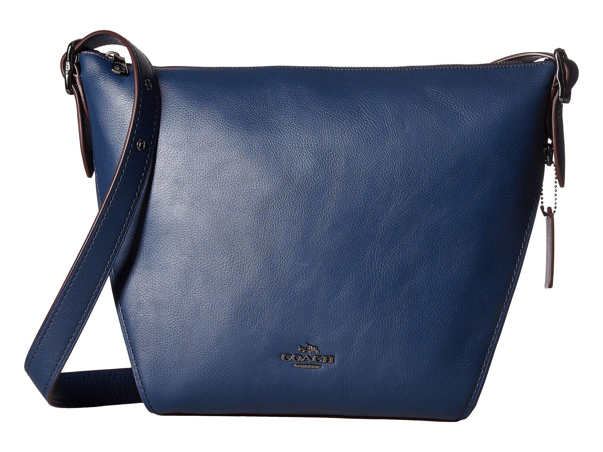 ddfdb2b02925 Lyst - COACH Dufflette In Natural Calf Leather (dk navy) Handbags in ...