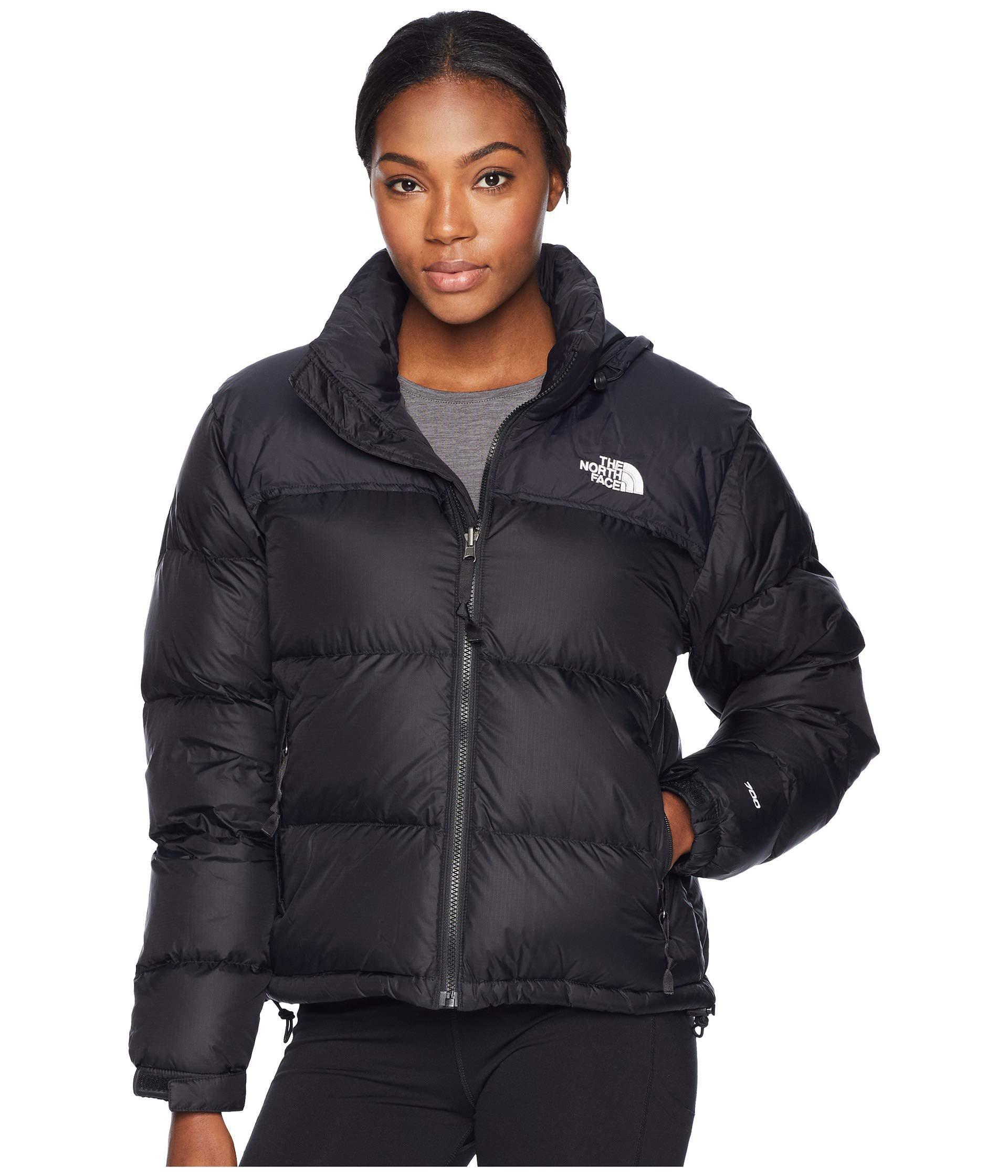The North Face. Black 1996 Retro Nuptse Jacket (tnf Medium Grey Heather) Women s  Coat 78f663a21