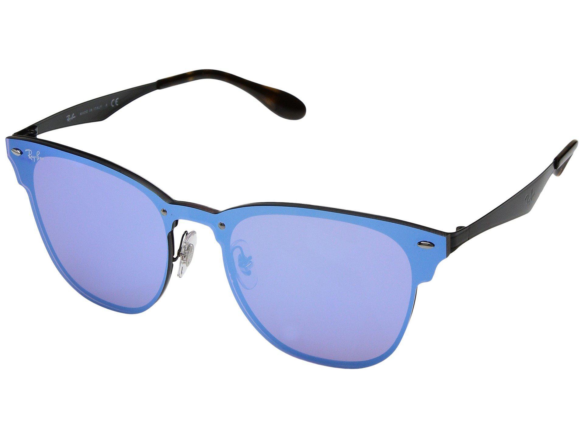 e9322cbb4fdf3 Ray-Ban Blaze Clubmaster Rb3576n 47mm (black dark Blue Mirror ...