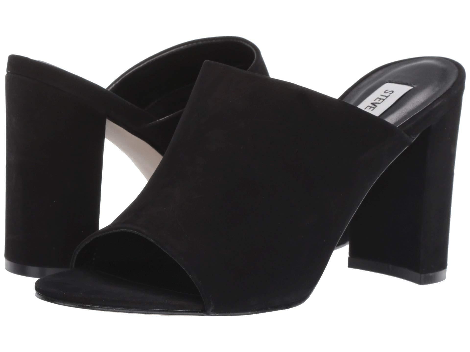 adfac610b93 Steve Madden. Black Esmeralda Heeled Mule (yellow Nubuck) Women s Clog Shoes