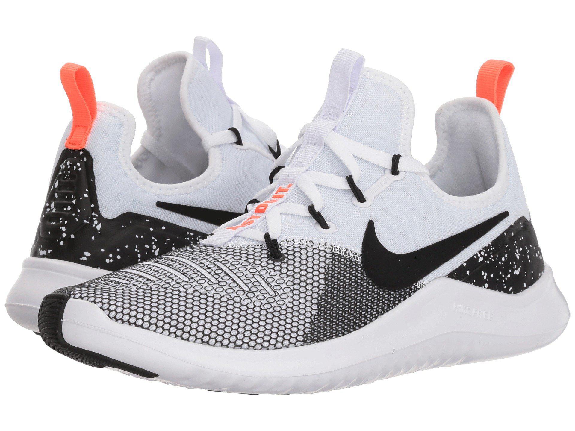 96aeb66874e11 Lyst - Nike Free Tr 8 (black white) Women s Cross Training Shoes in ...