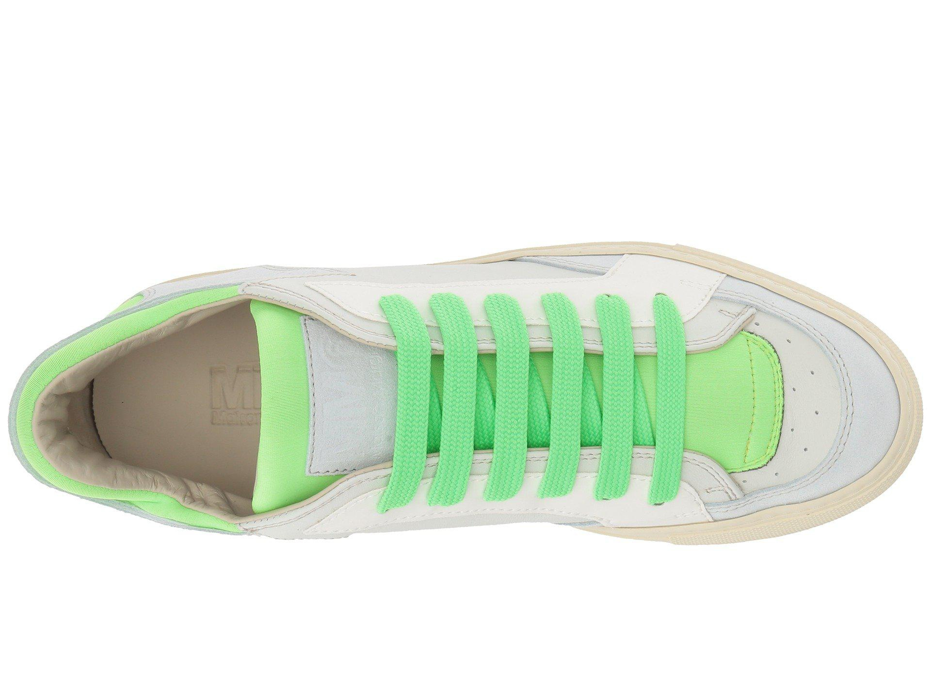 buy online f9a90 08223 Lyst - MM6 by Maison Martin Margiela Neon Pop Low Trainer (white ...