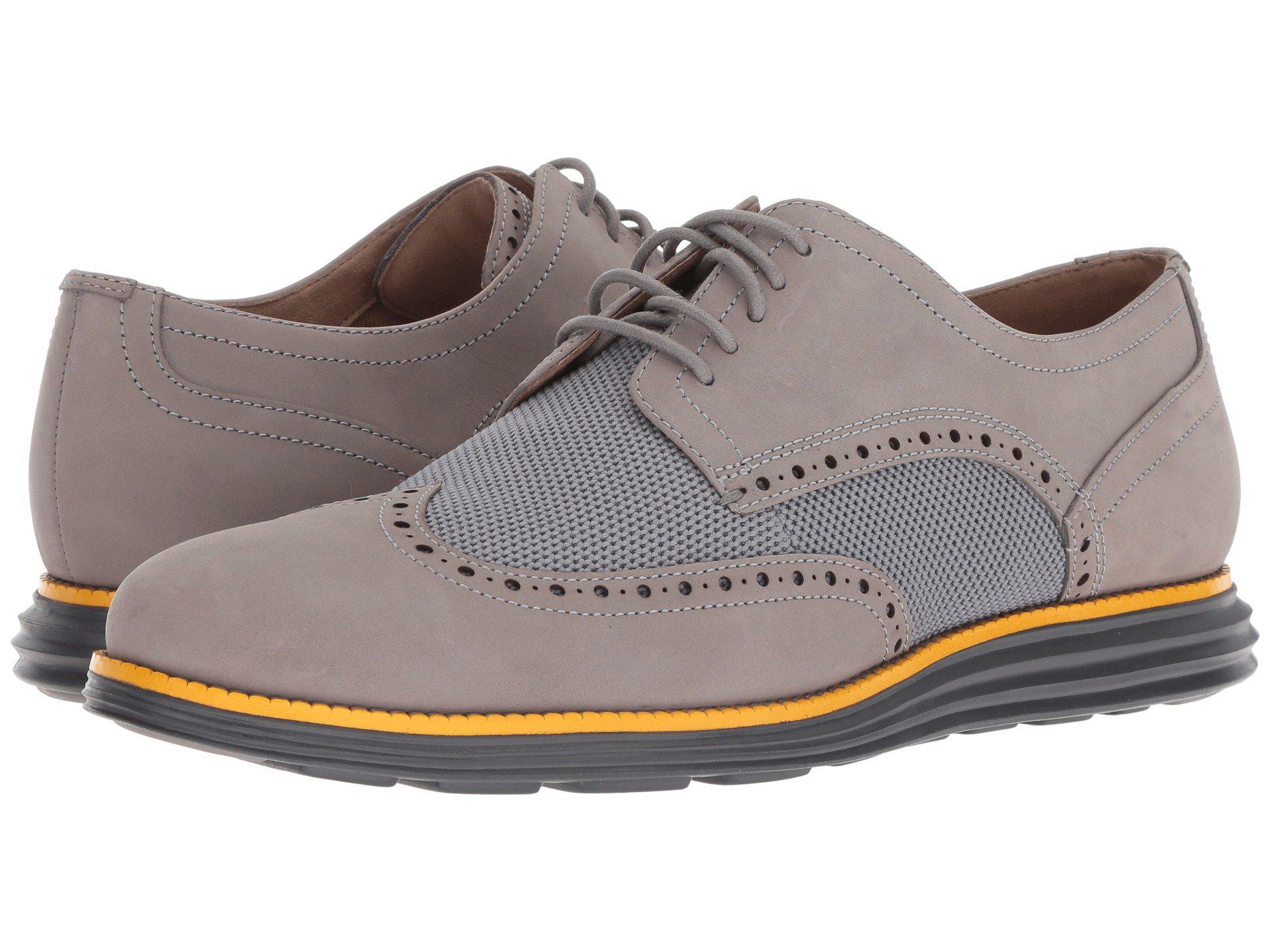 41b8f30d4f369f Lyst - Cole Haan Original Grand Wingtip Oxford (magnet grey Wool ...