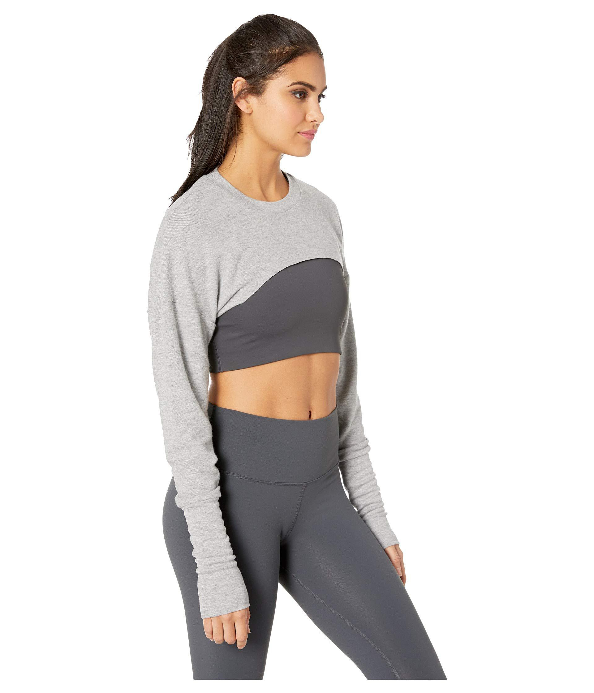 6ec5f0566f0 Alo Yoga Extreme Long Sleeve Top (pristine) Women's Clothing in Gray ...