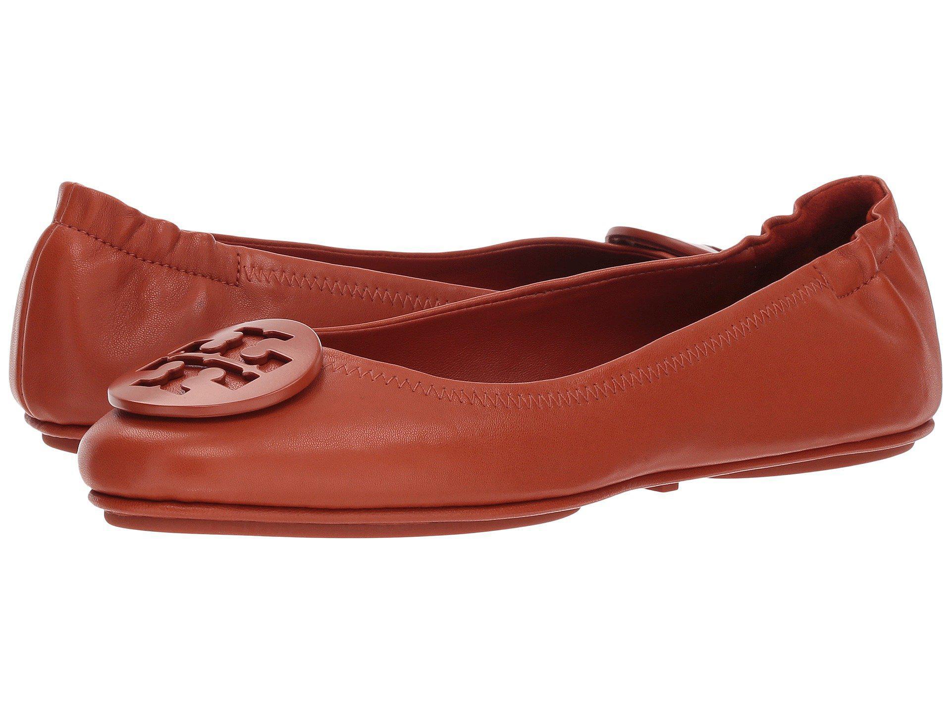 d5073d7b399a7 Tory Burch - Red Minnie Travel Ballet Flat (black gold) Women s Shoes -