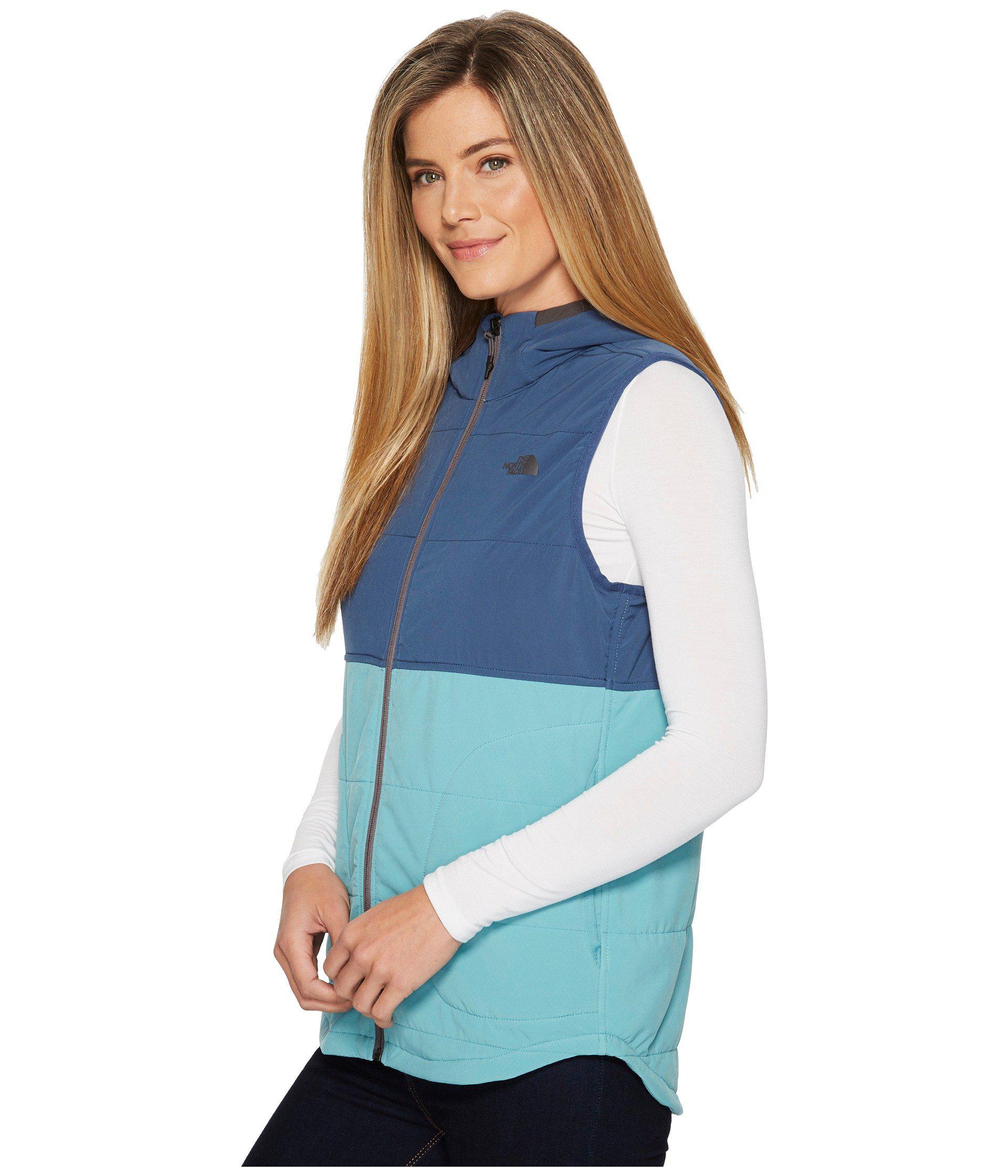 e4e301e6b7e8 The North Face - Mountain Sweatshirt Hooded Vest (bristol Blue shady Blue)  Women s. View fullscreen