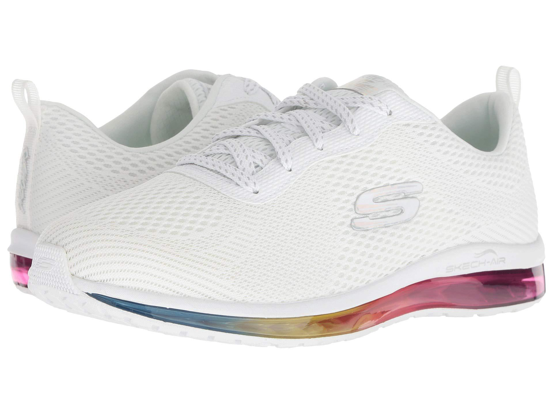 16860934d59a Skechers. Skech-air Element - Prelude (white Multi) Women s Lace Up Casual  Shoes