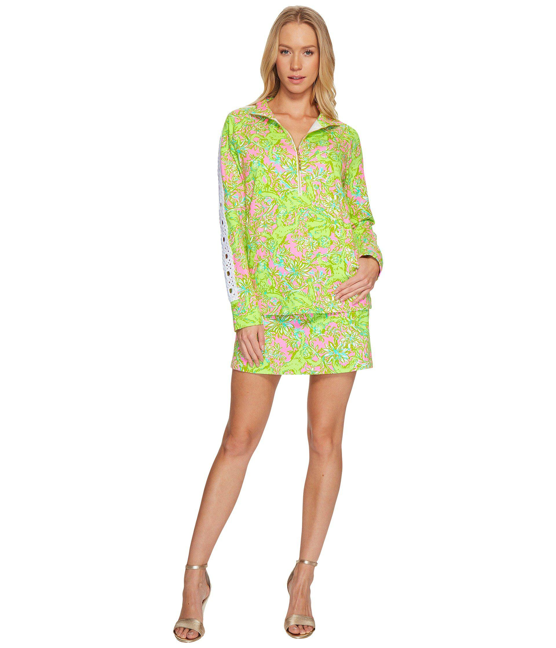 396db6b5e8f Lilly Pulitzer - Green Skipper Popover W  Lace (pelican Pink Pop-up Chimply.  View fullscreen