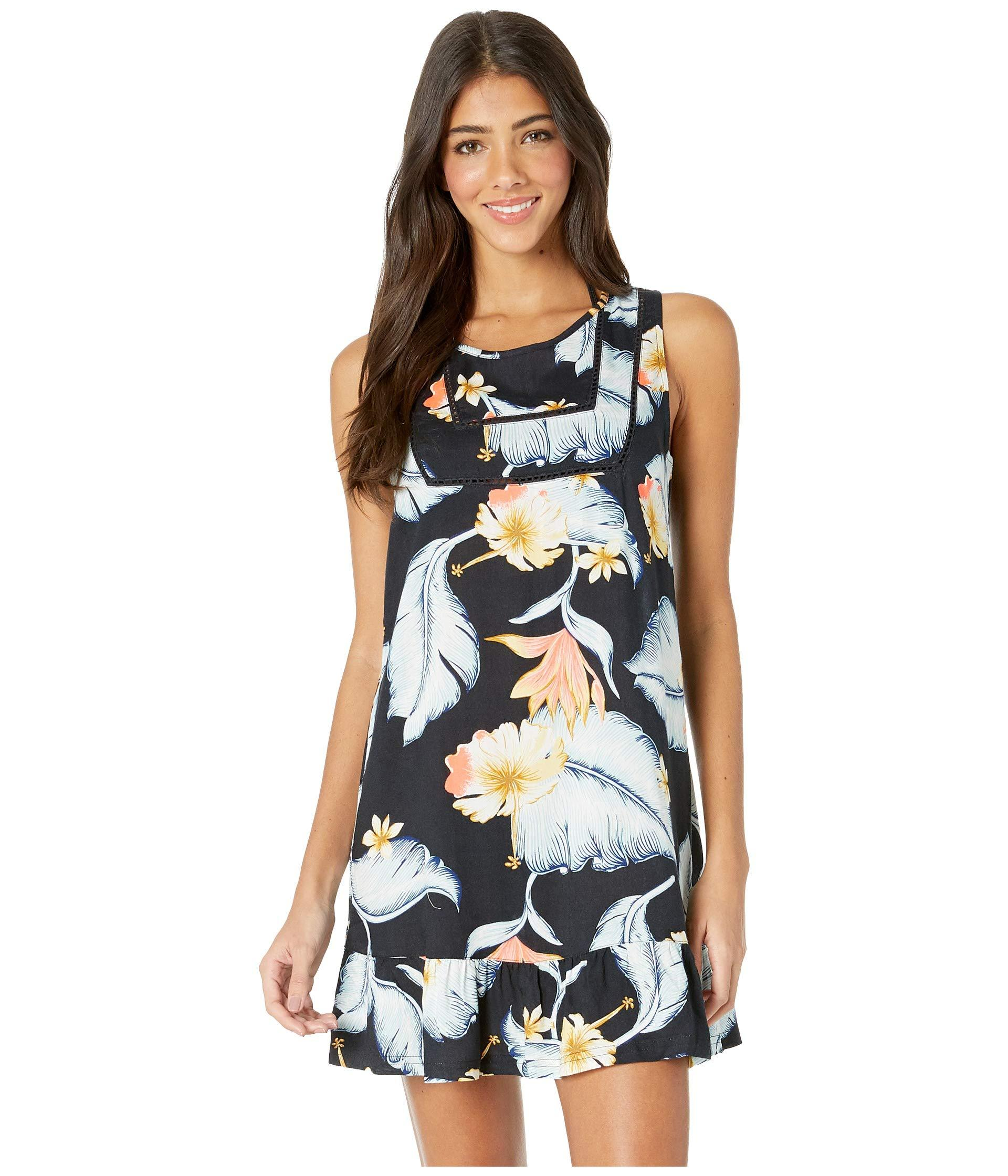 6c32cdad53 Roxy All About The Sea Cover-up Dress (bright White Tropical Love ...