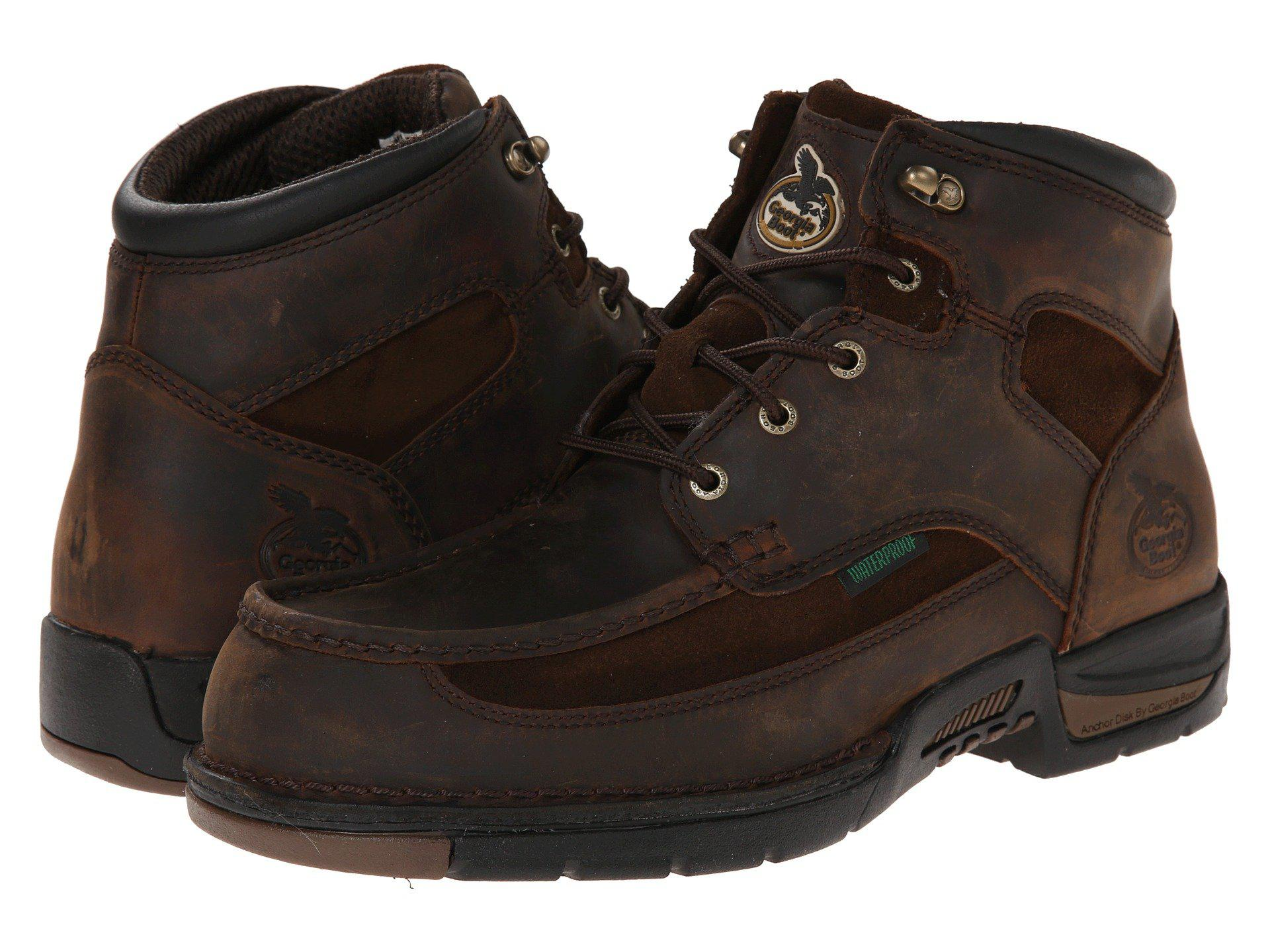 c8f25311d51 Lyst - Georgia Boot Athens 6 Moc Toe Lace Up (brown) Men's Work Lace ...