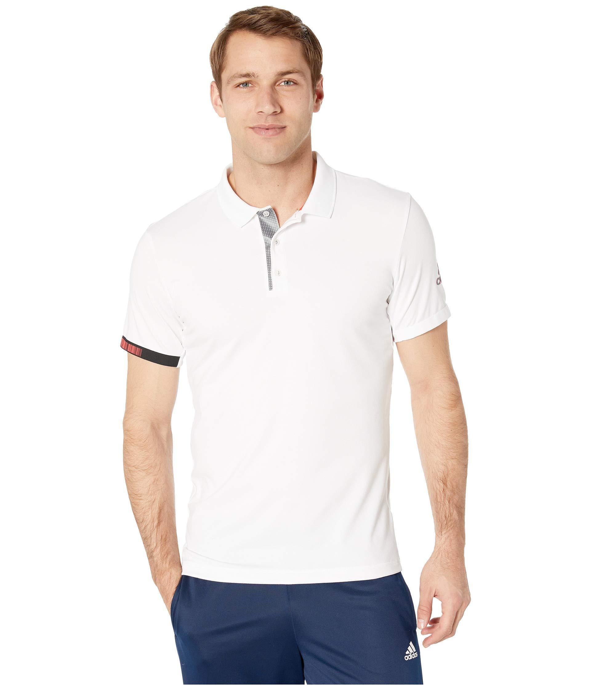 Lyst - adidas Matchcode Polo (white night Metallic) Men s T Shirt in ... b596d8161594c