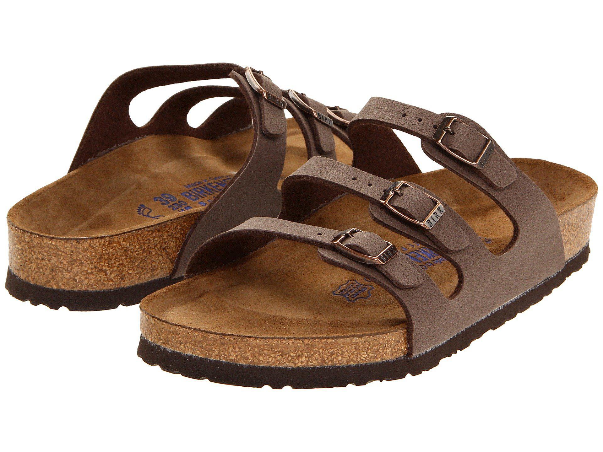 e4c937527eea Birkenstock. Brown Florida Soft Footbed - Birkibuc (mocha Birkibuc) Women s  Sandals