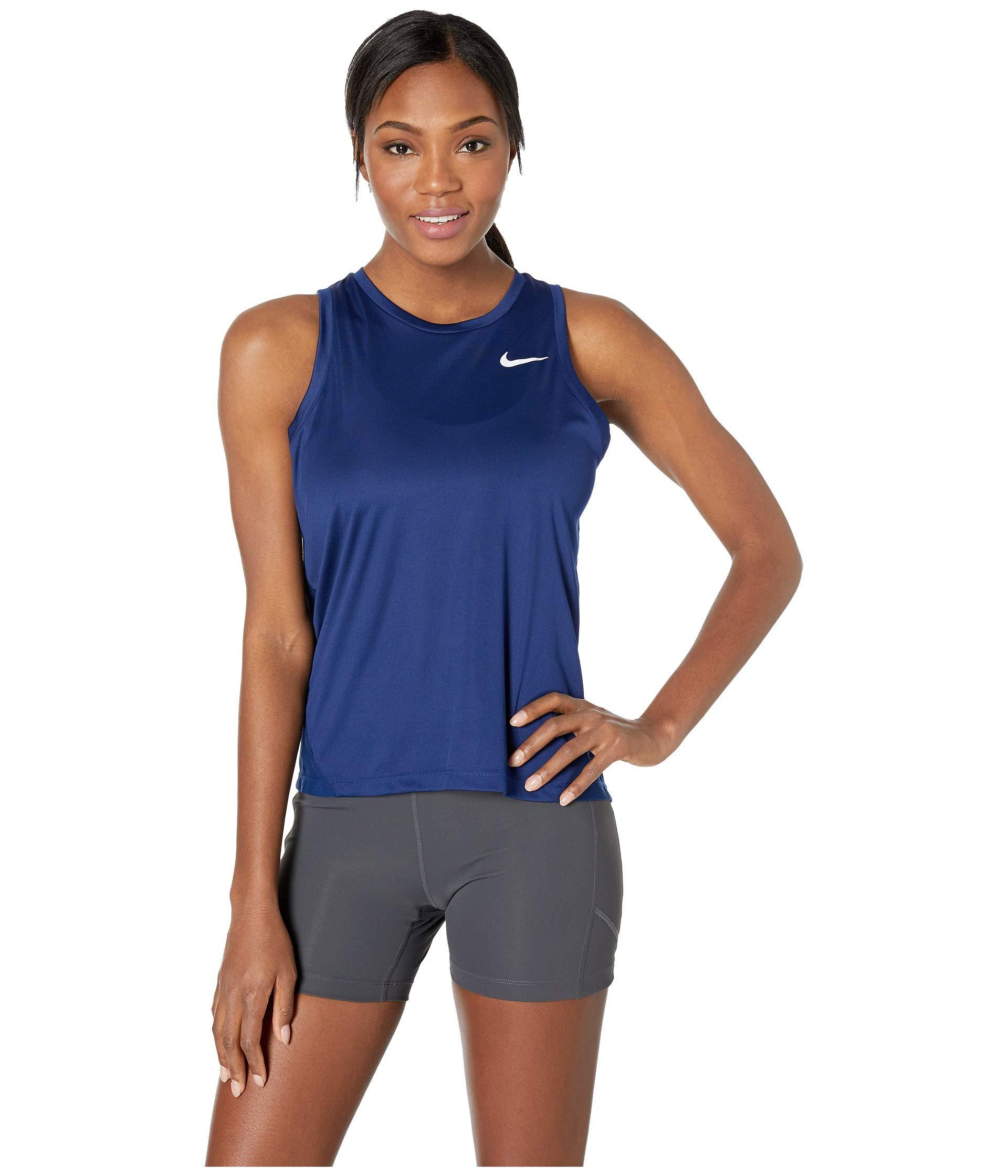 6c746f3f1cc5f0 Lyst - Nike Miler Tank (black reflective Silver) Women s Clothing in ...