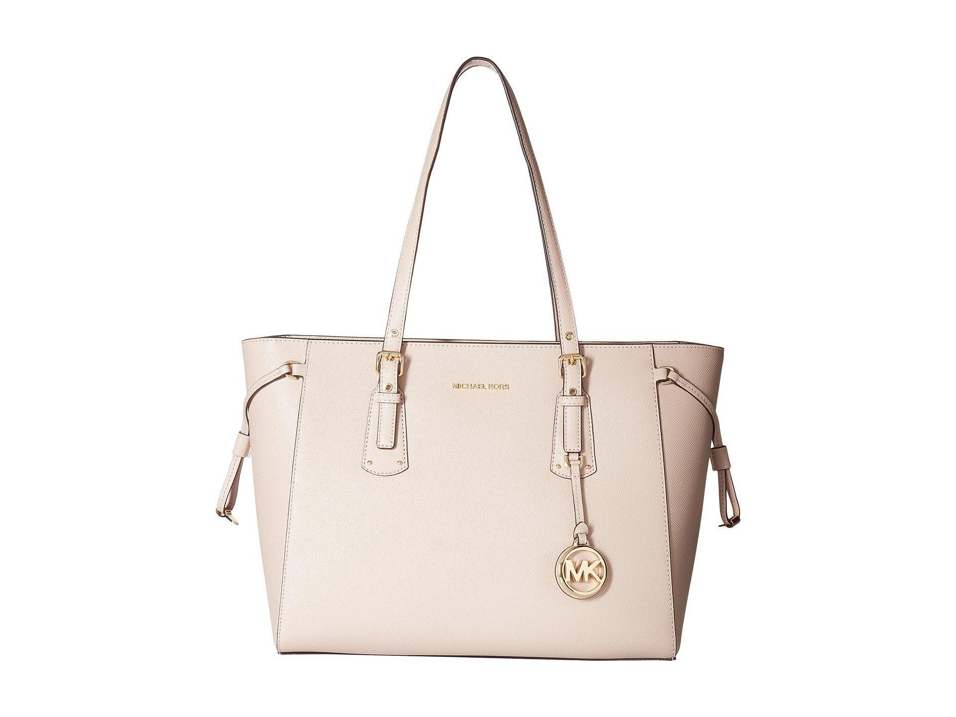 8c4edbb80124 Lyst - MICHAEL Michael Kors Voyager Medium Tote Bag in Pink - Save 29%