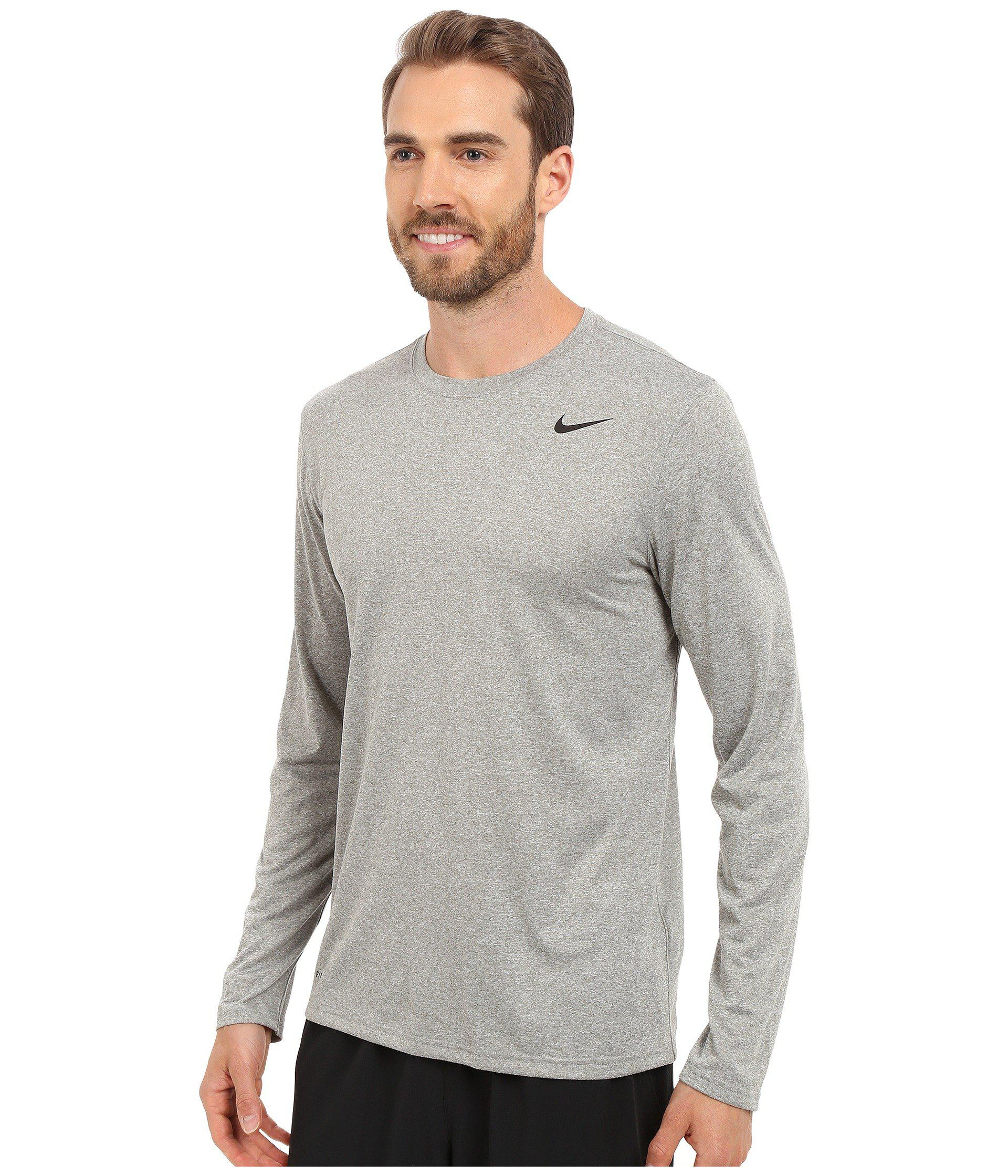 e44fb0533acb Lyst - Nike Legend 2.0 Long Sleeve Tee (white black black) Men s T Shirt in  Gray for Men