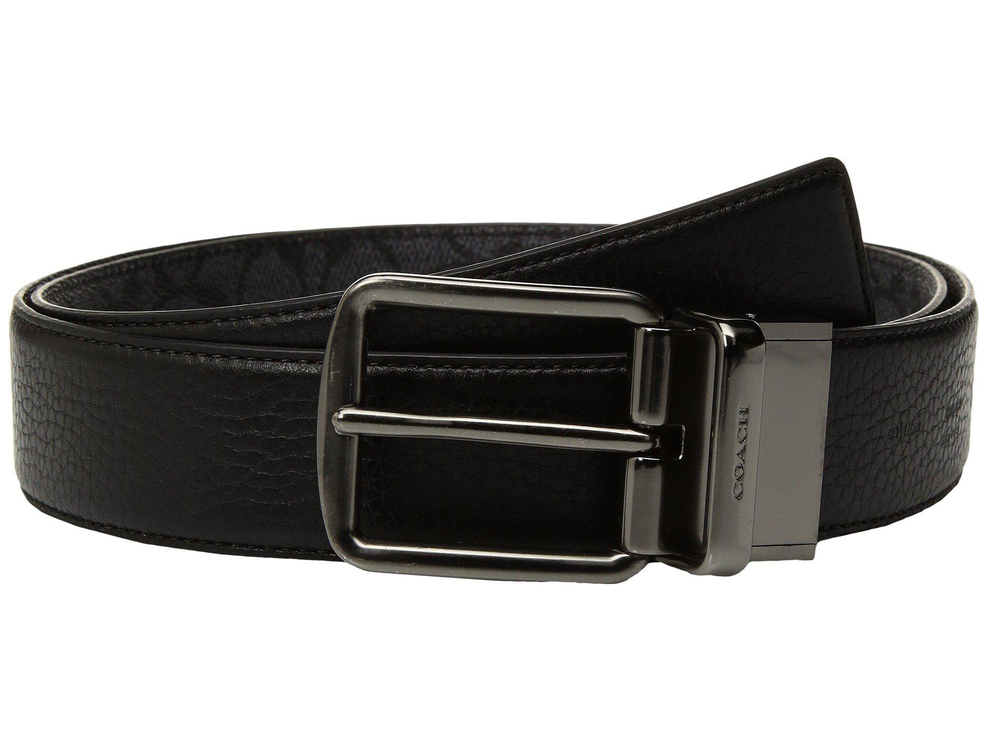 3e42485b64cae COACH - Black Wide Harness Signature Reversible Belt (blue) Men s Belts for  Men -. View fullscreen