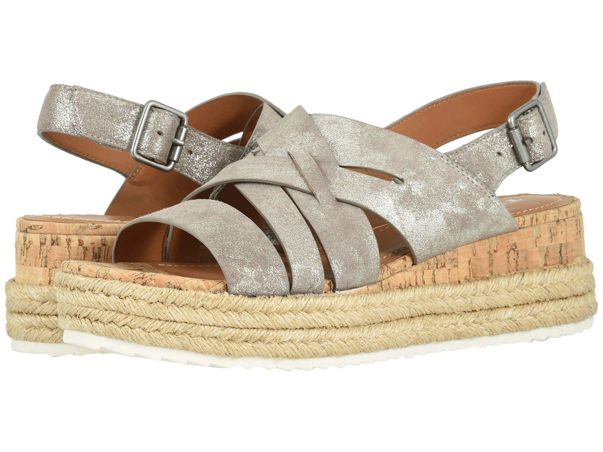 d6084f66ba412d Lyst - Trask Randi (navy Oiled Suede) Women s Sandals in Metallic