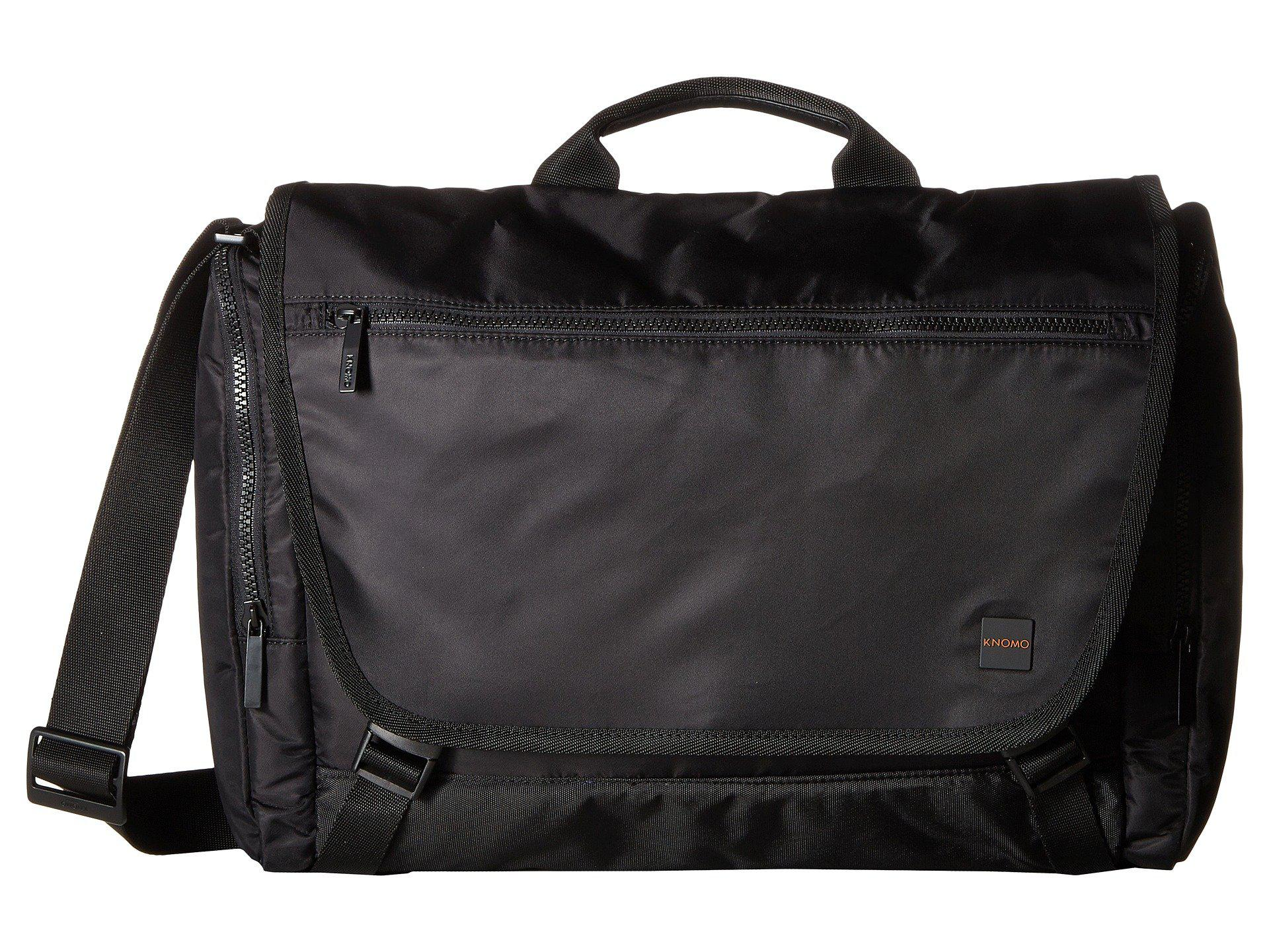 Knomo Pimlico Hugh Laptop Messenger (Black) Messenger Bags HBNNVH