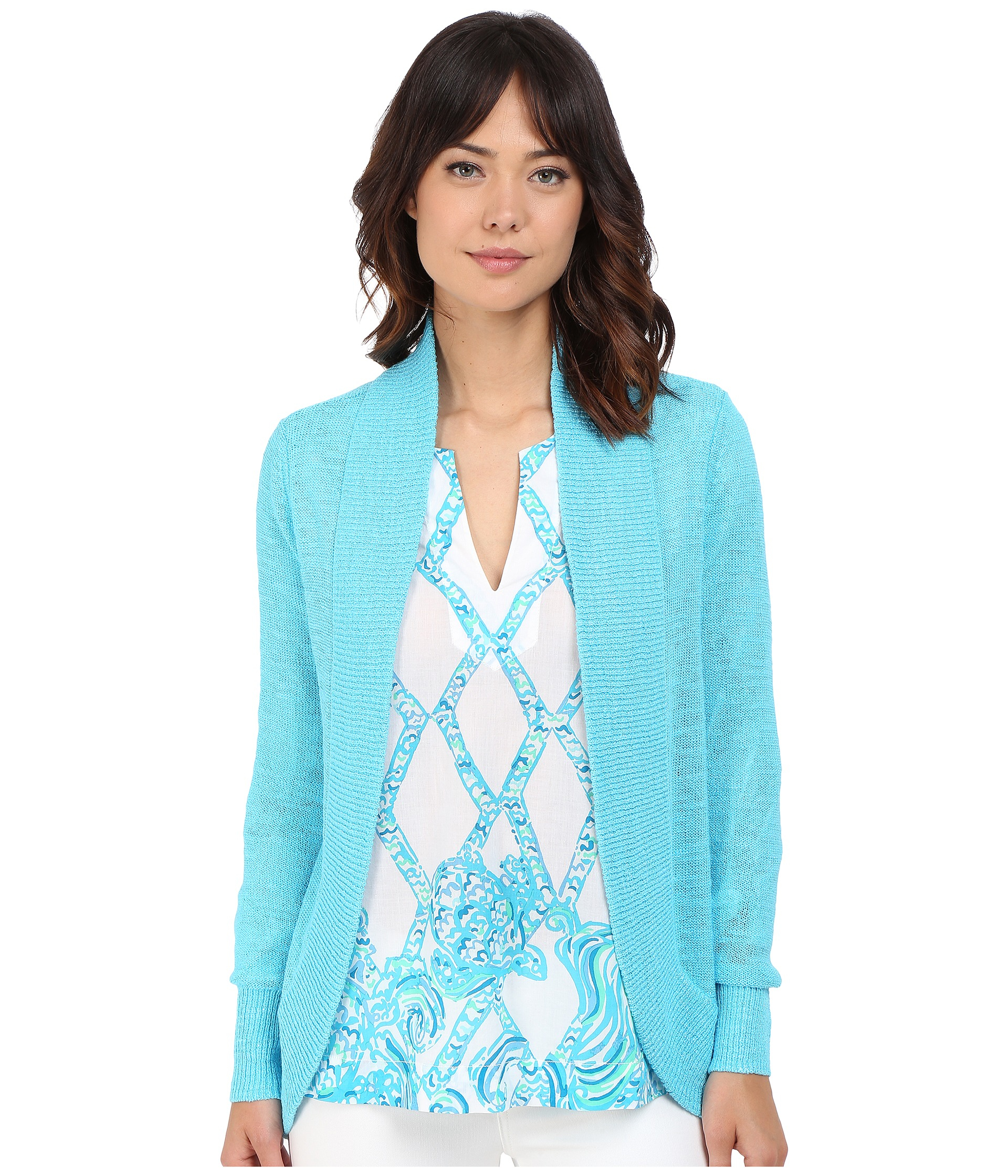 Lyst - Lilly Pulitzer Amalie Cardigan in Blue 3c1e1d84a