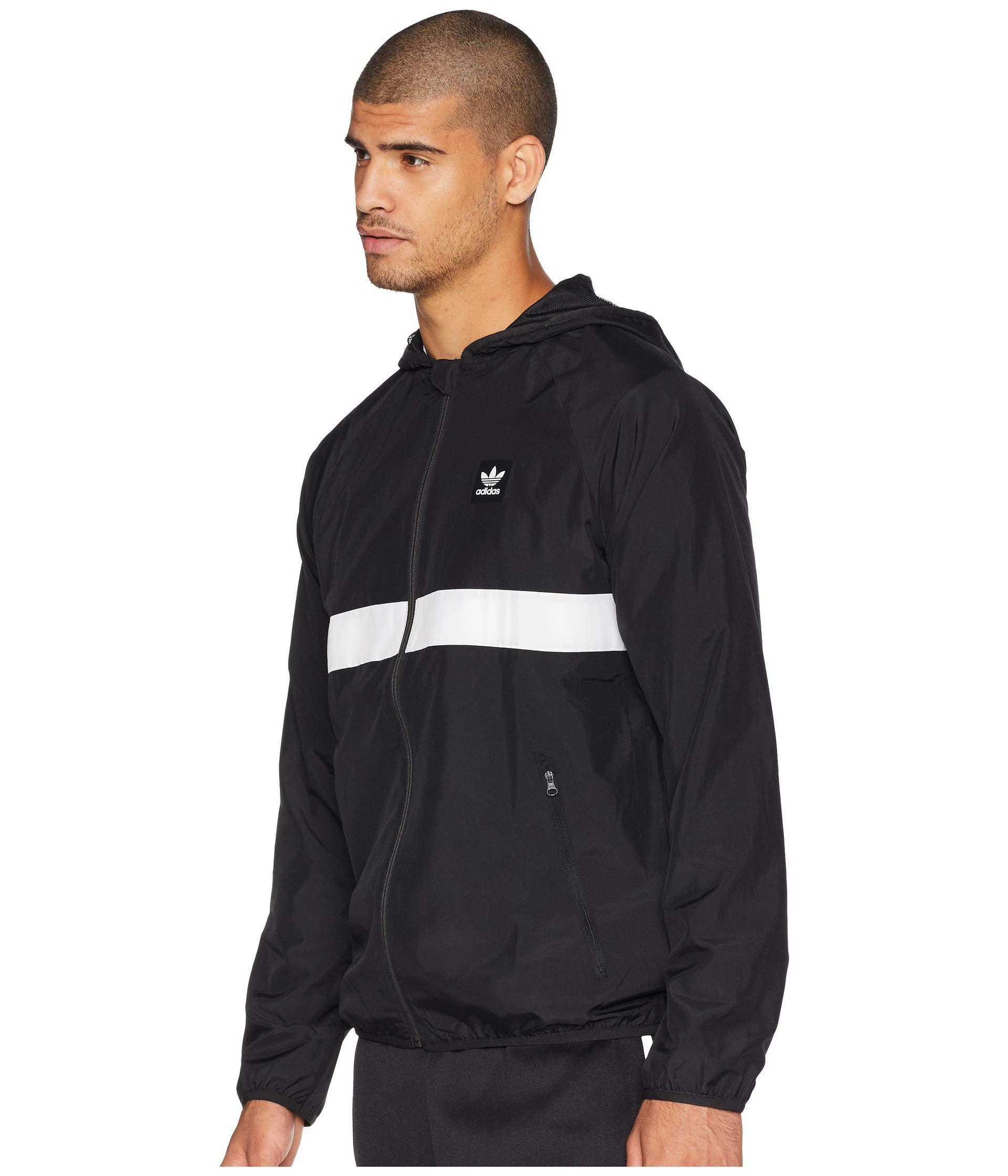 bb29dab0eeb2 Lyst - adidas Originals Blackbird Packable Wind Jacket (black white) Men s  Coat in Black for Men